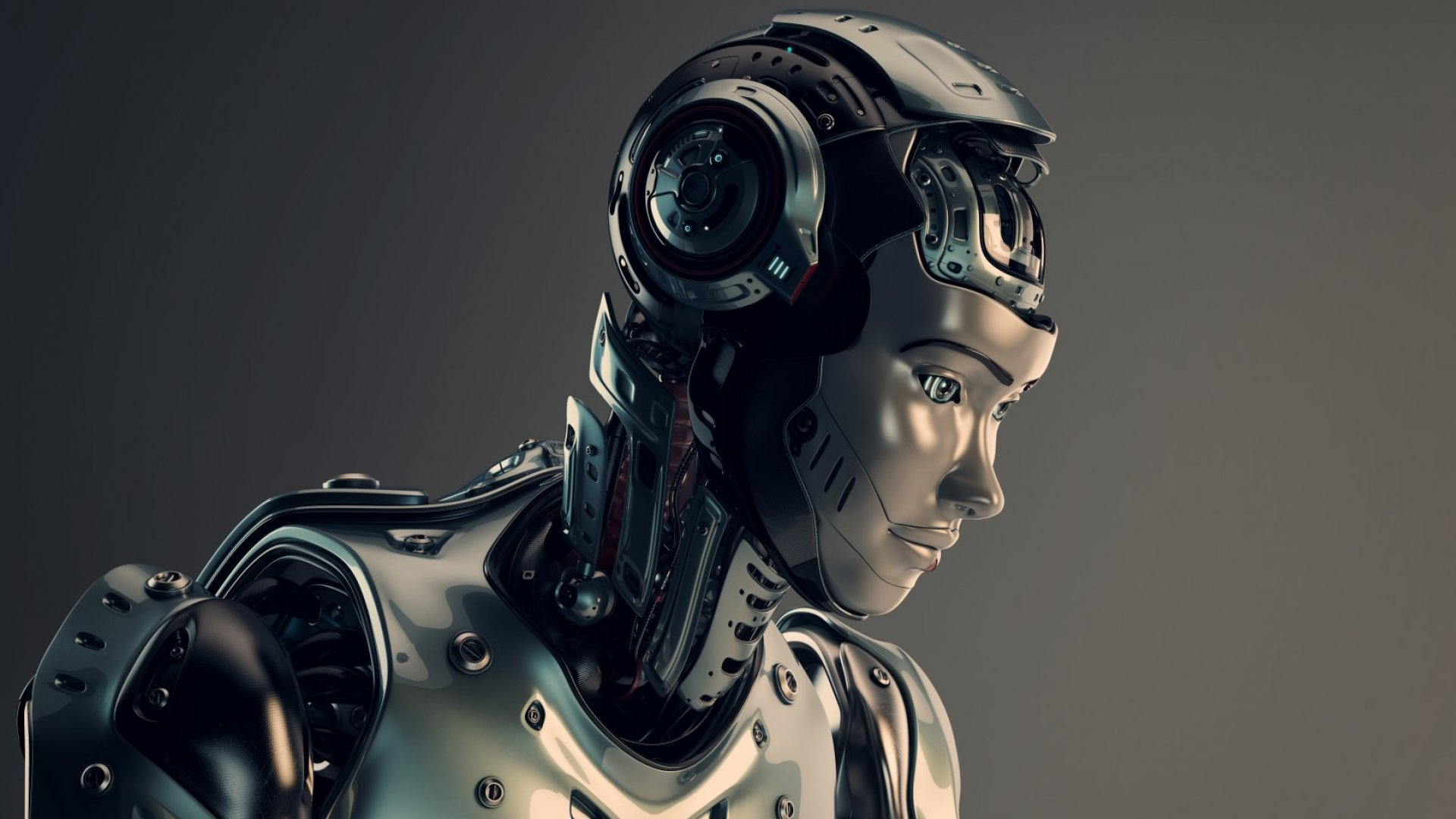 One day, humans and robots will merge.