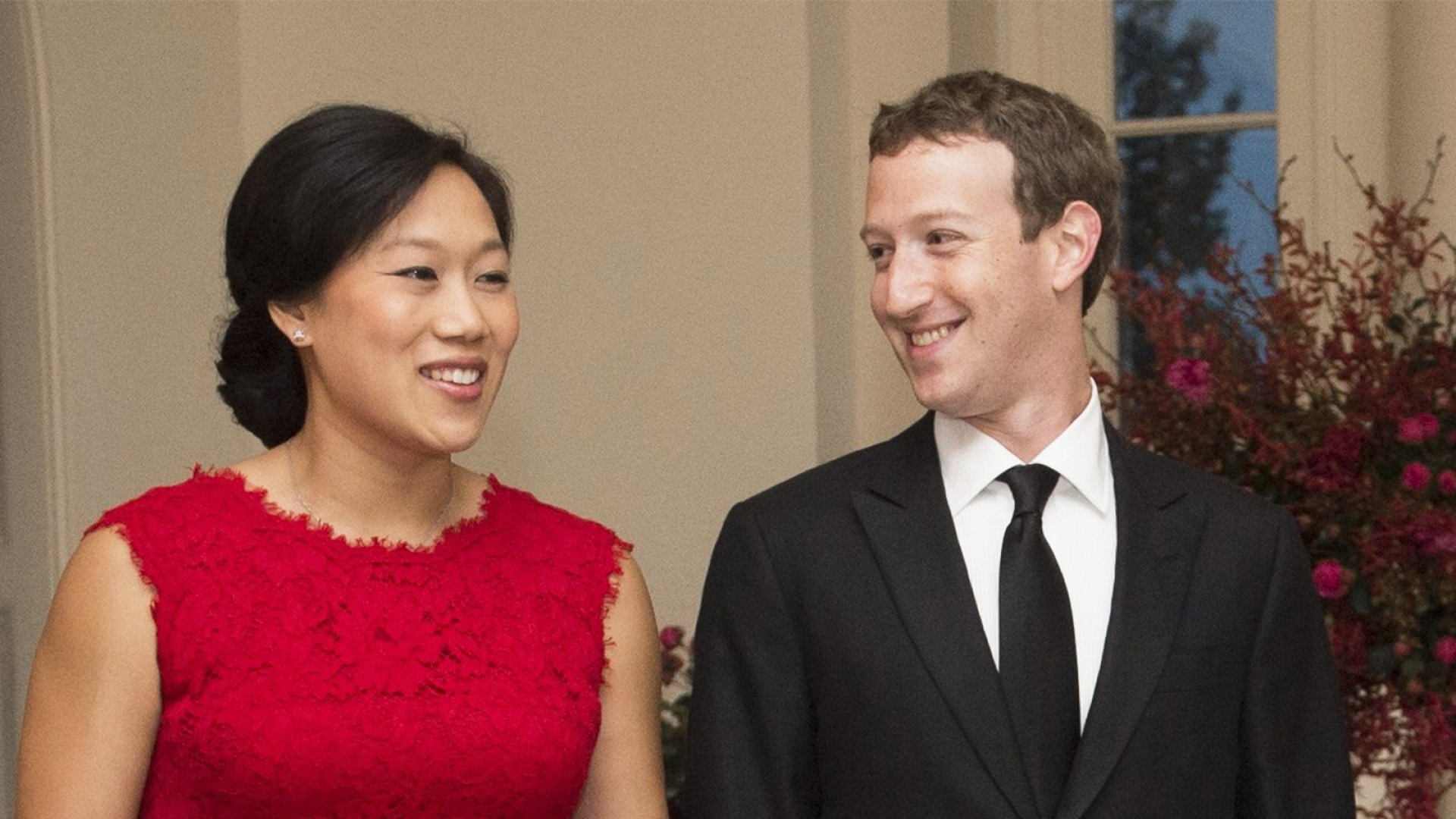 Priscilla Chan and Mark Zuckerberg.