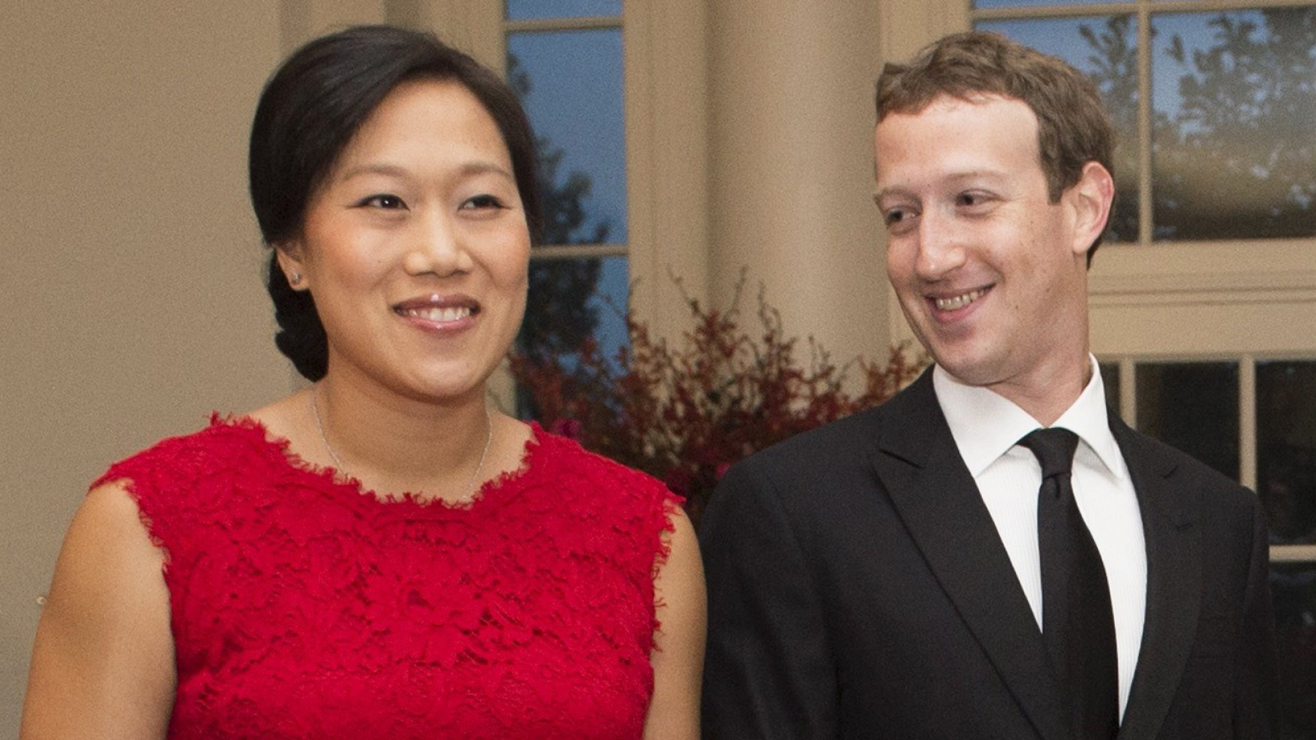Priscilla Chan (left) and Facebook CEO Mark Zuckerberg.