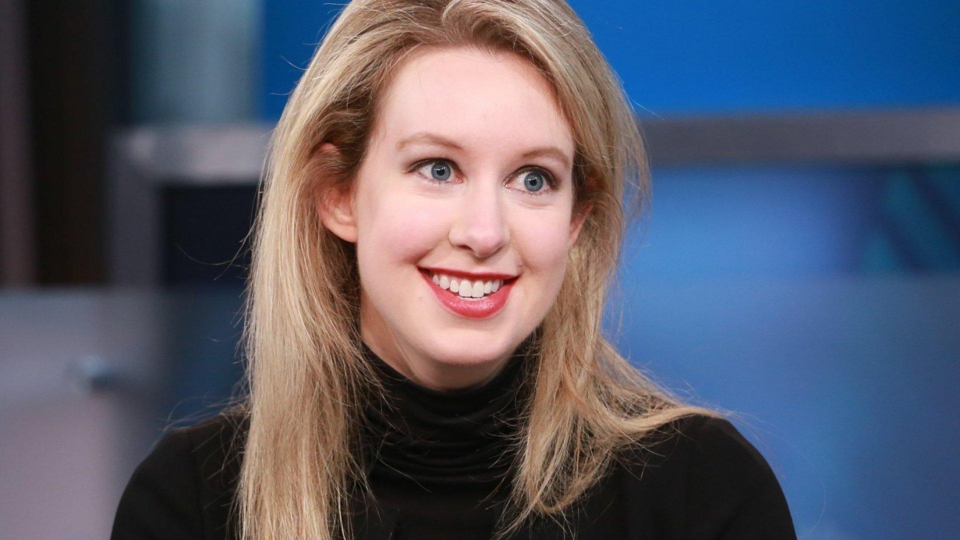 Elizabeth Holmes, CEO of Theranos.