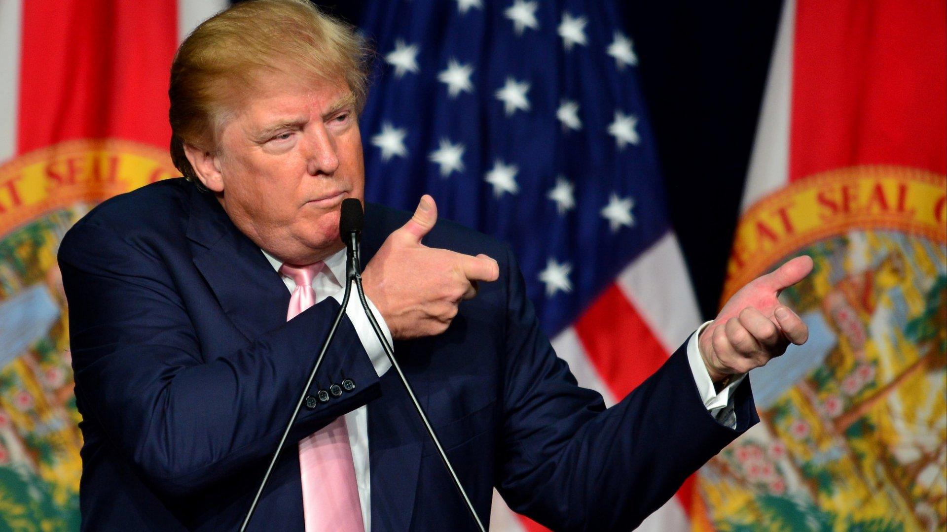 <b>TAKING AIM:</b> Donald Trump has legal marijuana in his sights.
