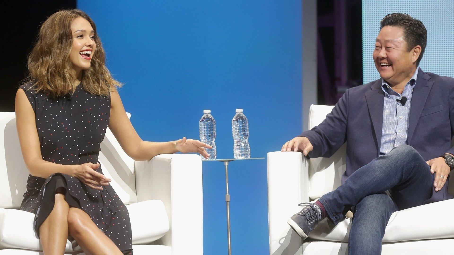 Jessica Alba and former Honest CEO Brian Lee.
