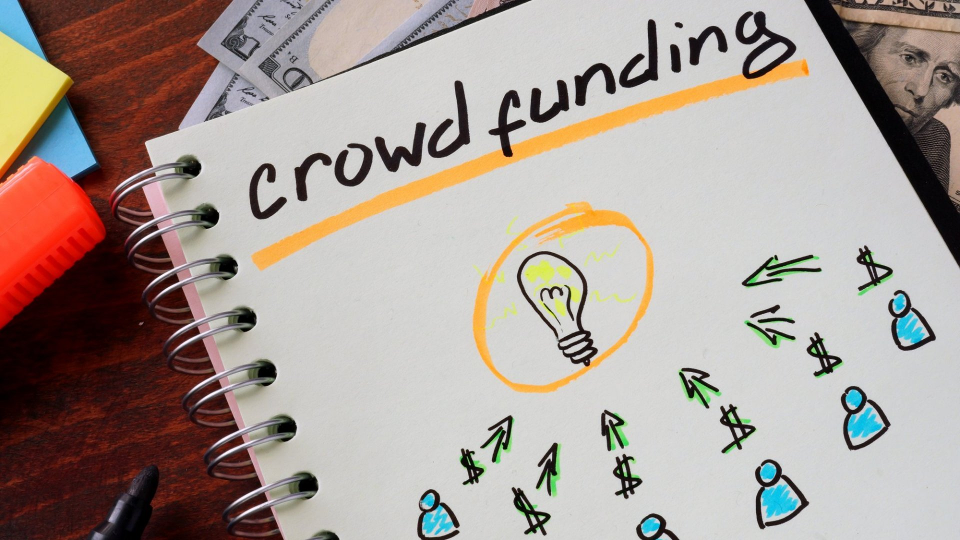 A bright idea can be realized with the help of a bunch of dollars — or a crowd willing to pitch in.