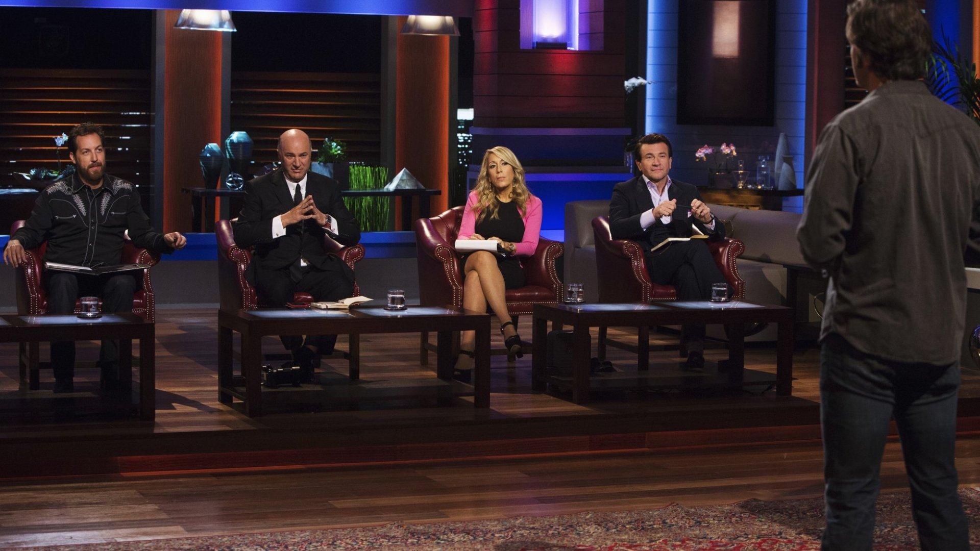 Chris Sacca, Kevin O'Leary, Lori Greiner, and Robert Herjavec on 'Shark Tank.'