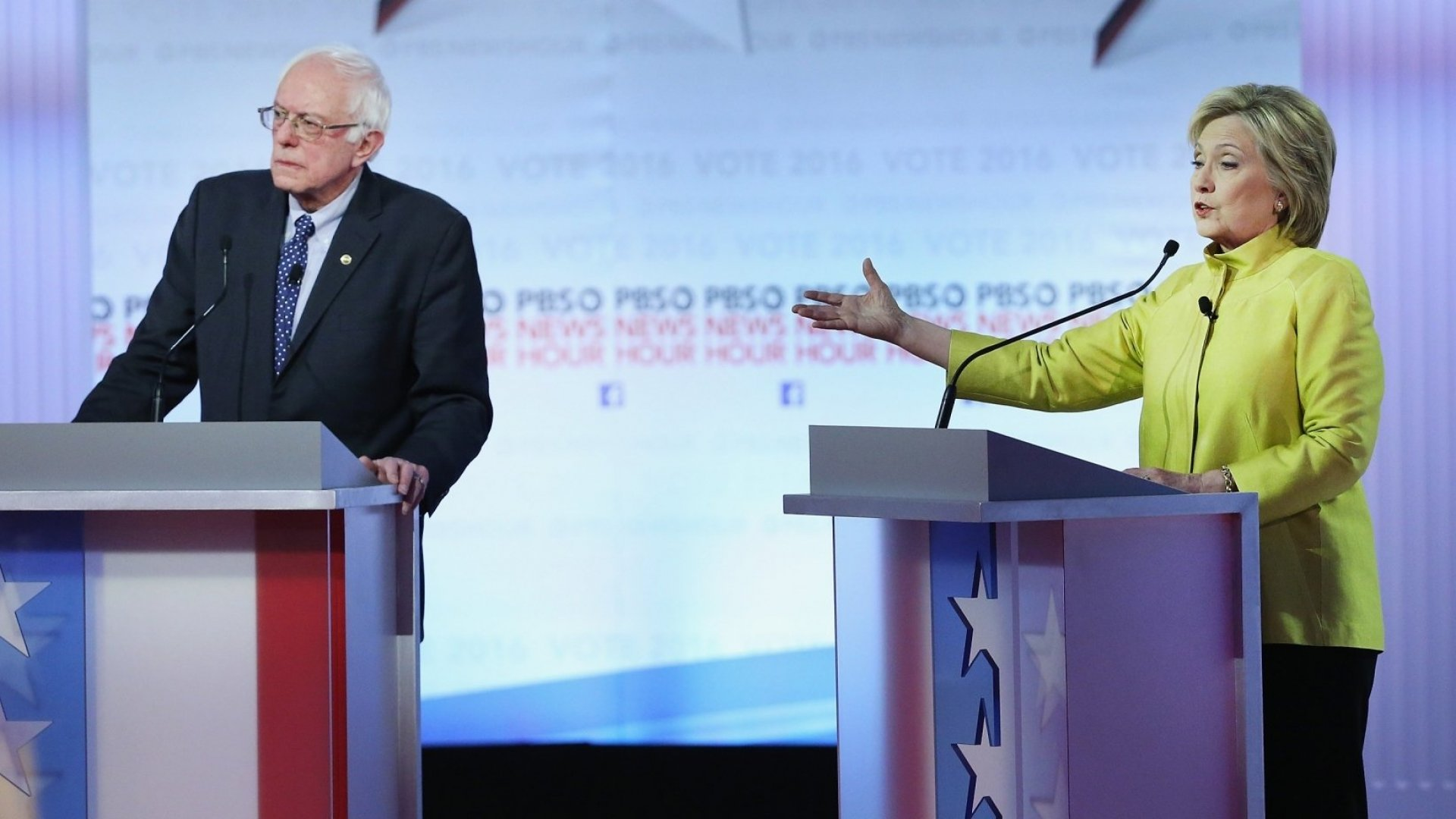 Bernie Sanders and Hillary Clinton.