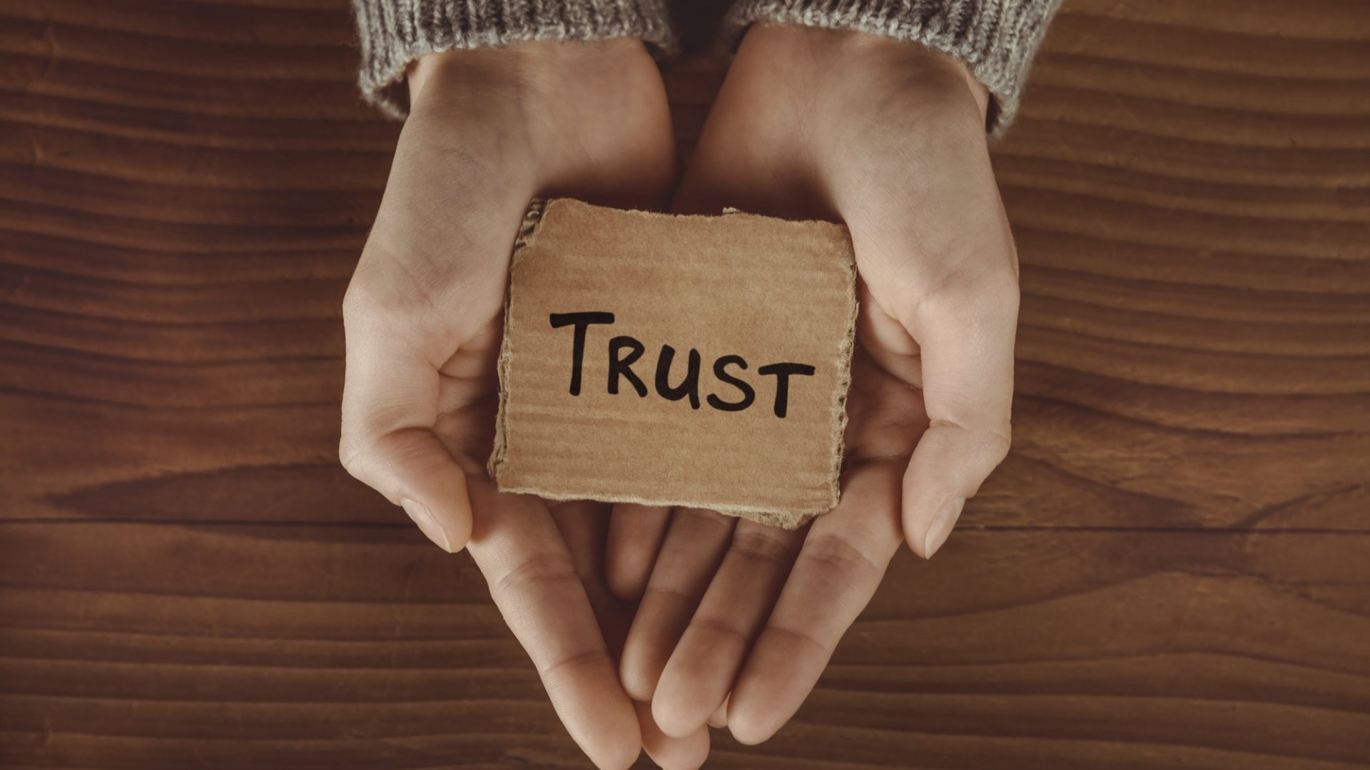 Trust is a commodity in short supply.