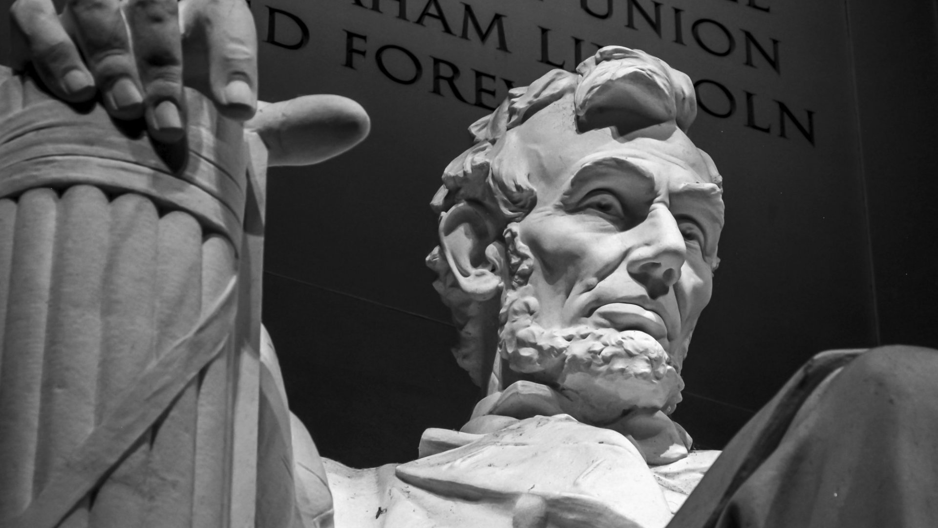 President Lincoln, with the short yet powerful Gettysburg Address in the background.