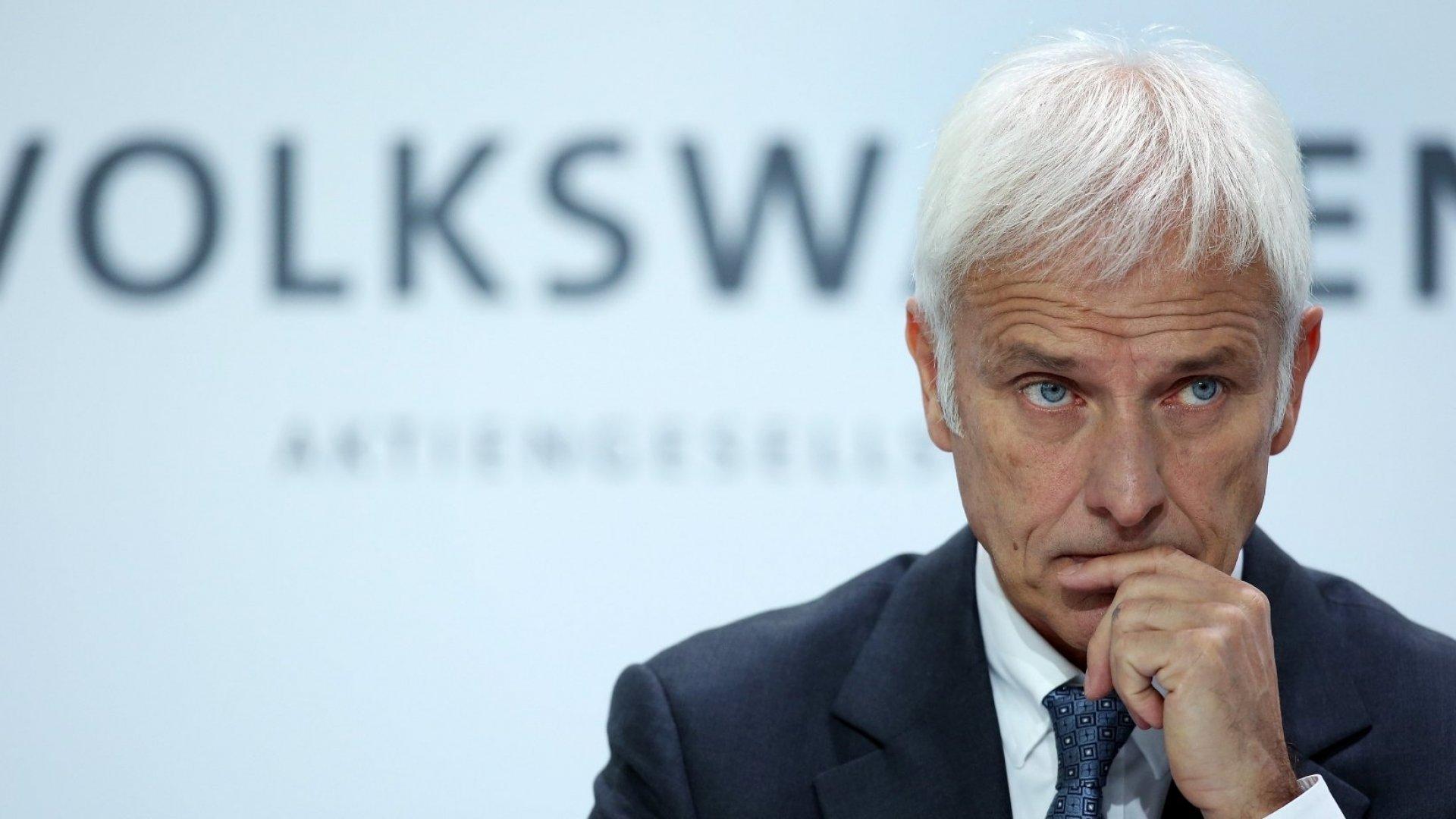 Volkswagen CEO Matthias Müller.