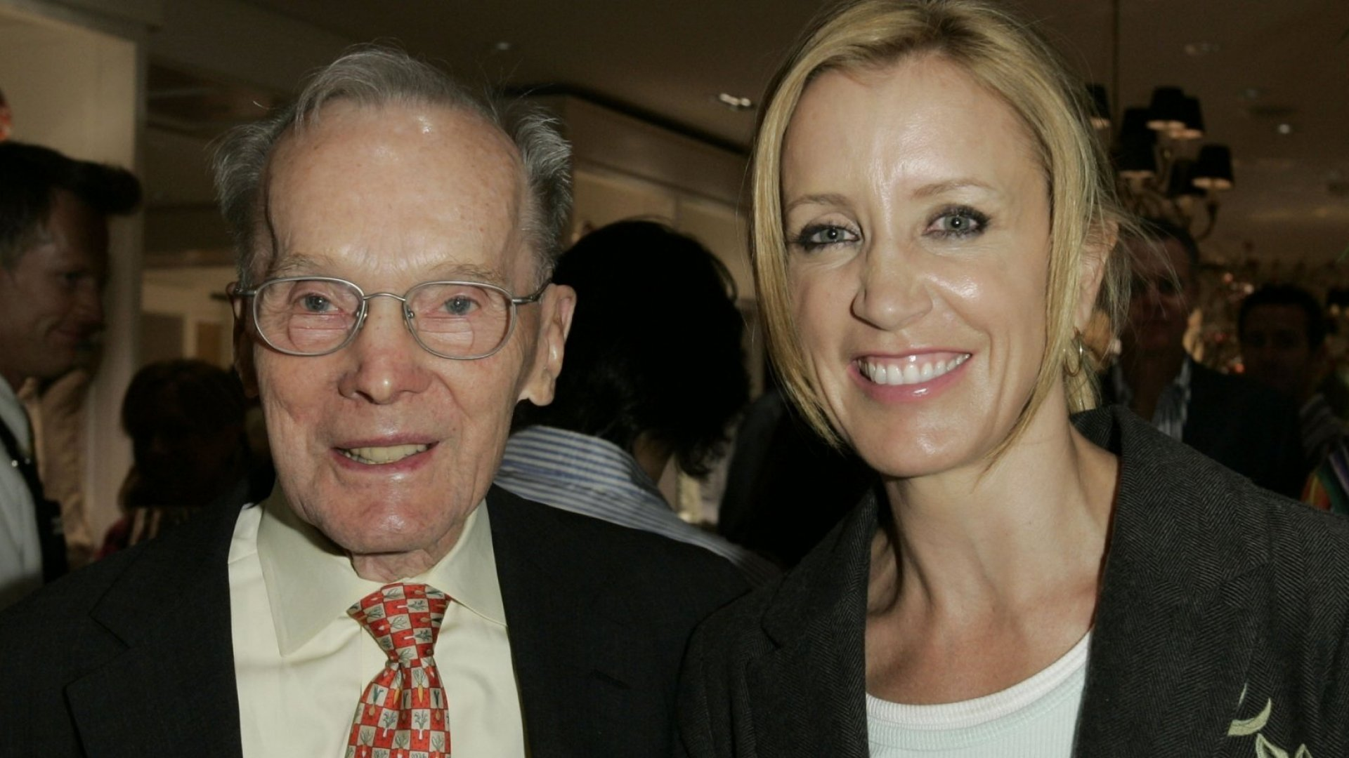 Williams-Sonoma founder Chuck Williams and actress Felicity Huffman.