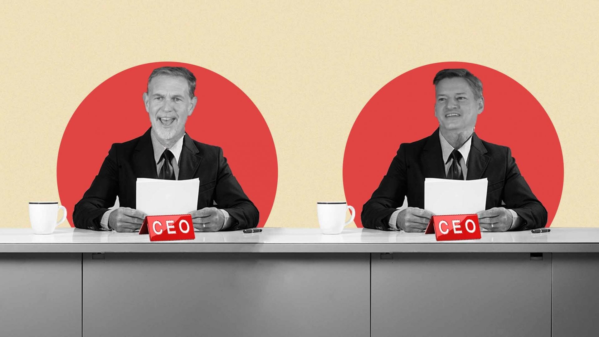 Reed Hastings and Ted Sarandos,