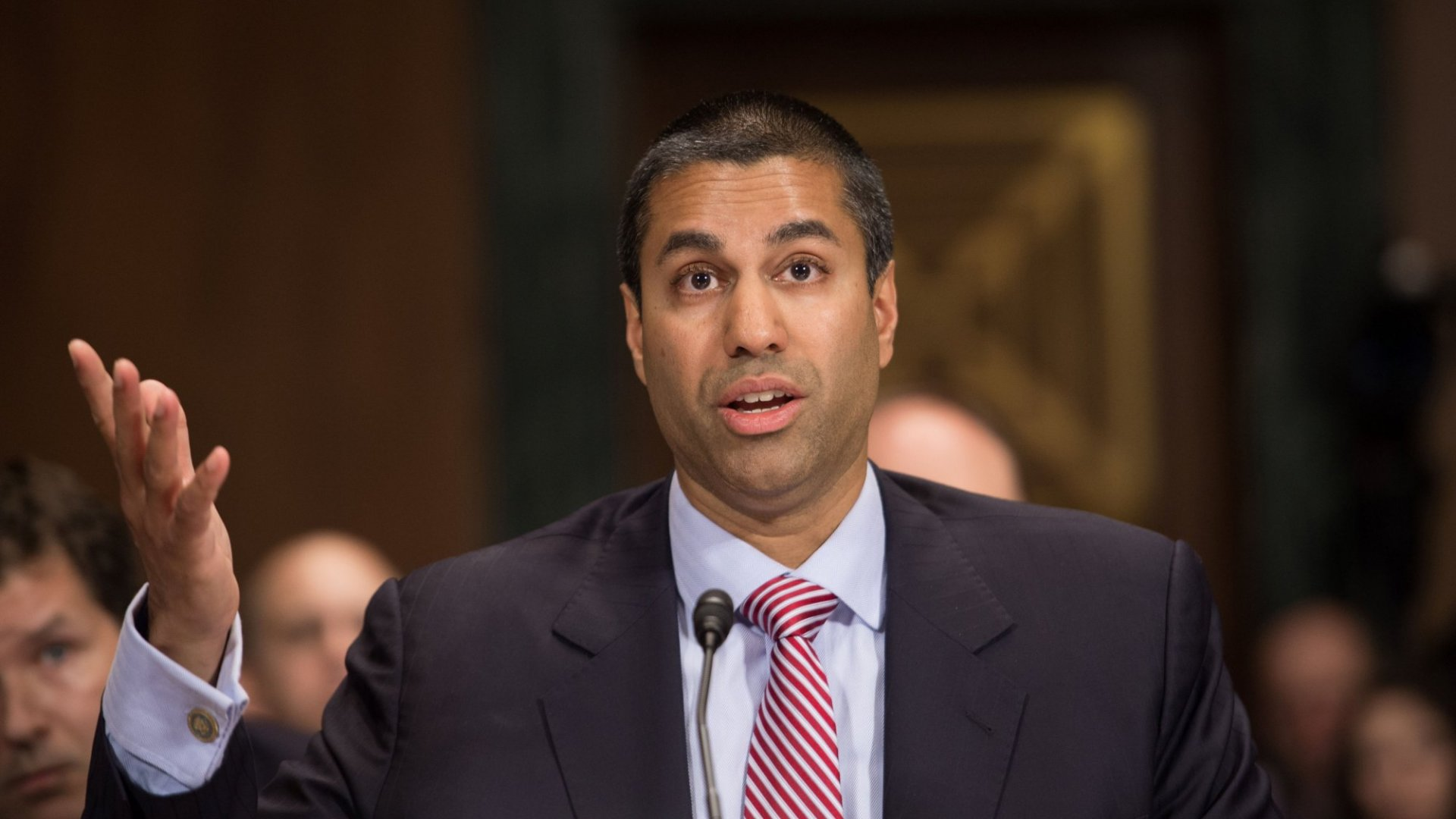 FCC Commissioner Ajit Pai testifies before the Senate Judiciary Committee's Privacy, Technology and the Law Subcommittee.