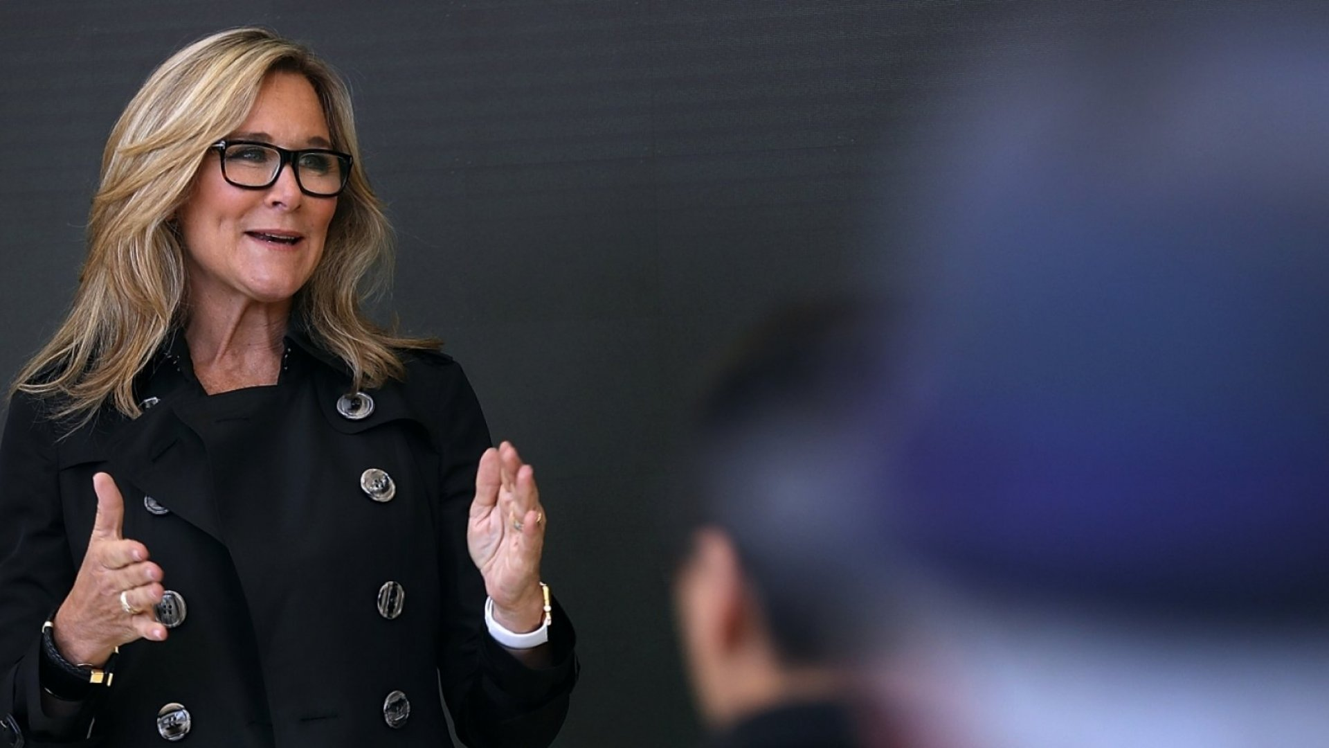 Angela Ahrendts, senior vice president of retail strategy at Apple.