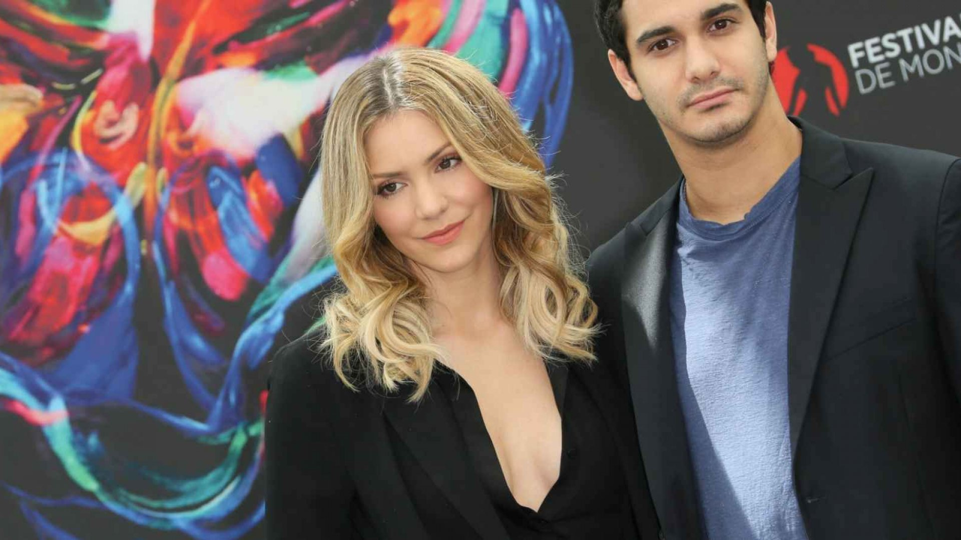 Scorpion Cast Members Katherine McPhee (Paige Dineen) and Elyes Gabel (Walter O'Brien)