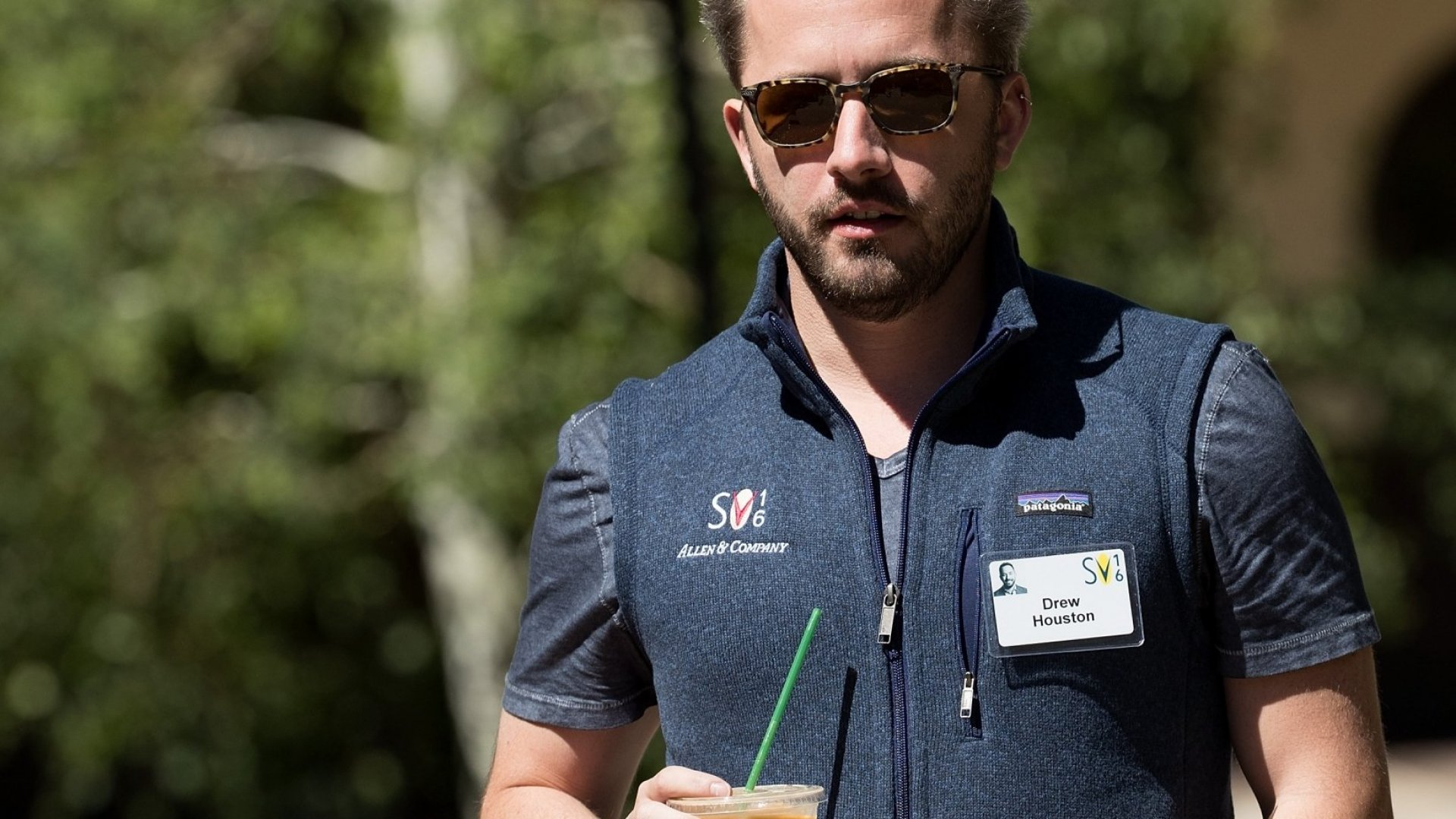Drew Houston, chief executive officer of Dropbox, attends the annual Allen & Company Sun Valley Conference, July 7, 2016 in Sun Valley, Idaho. Every July, some of the world's most wealthy and powerful businesspeople from the media, finance, technology and political spheres converge at the Sun Valley Resort for the exclusive weeklong conference. (Photo by Drew Angerer/Getty Images)