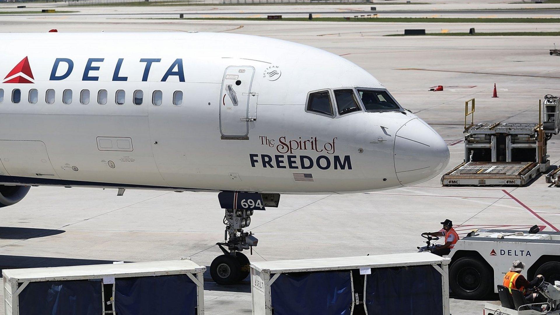Spirit of Freedom of Speech? Not on Delta's dime, it seems.