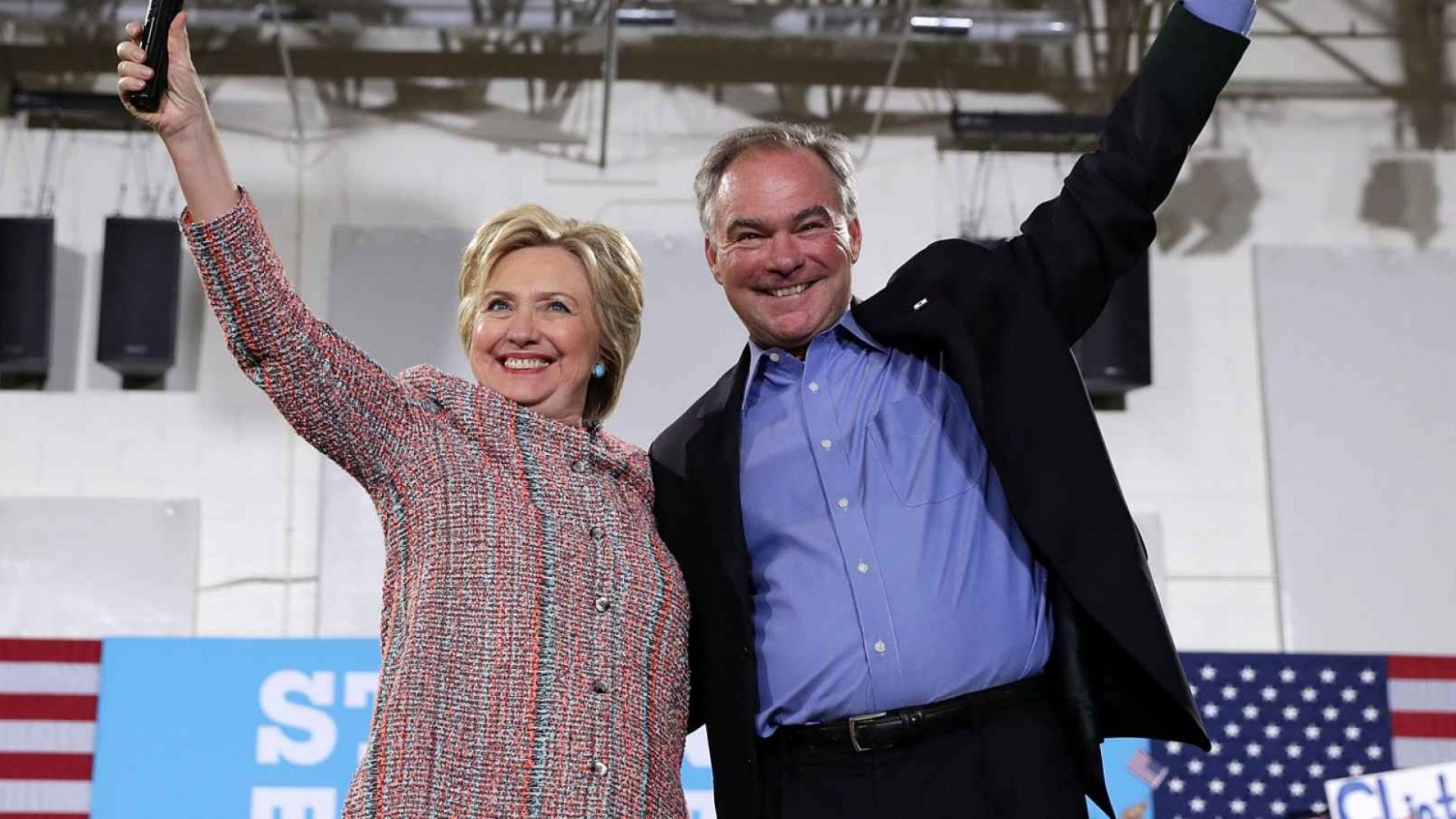 How Business and Tech Reacted to Hillary Clinton Choosing Tim Kaine