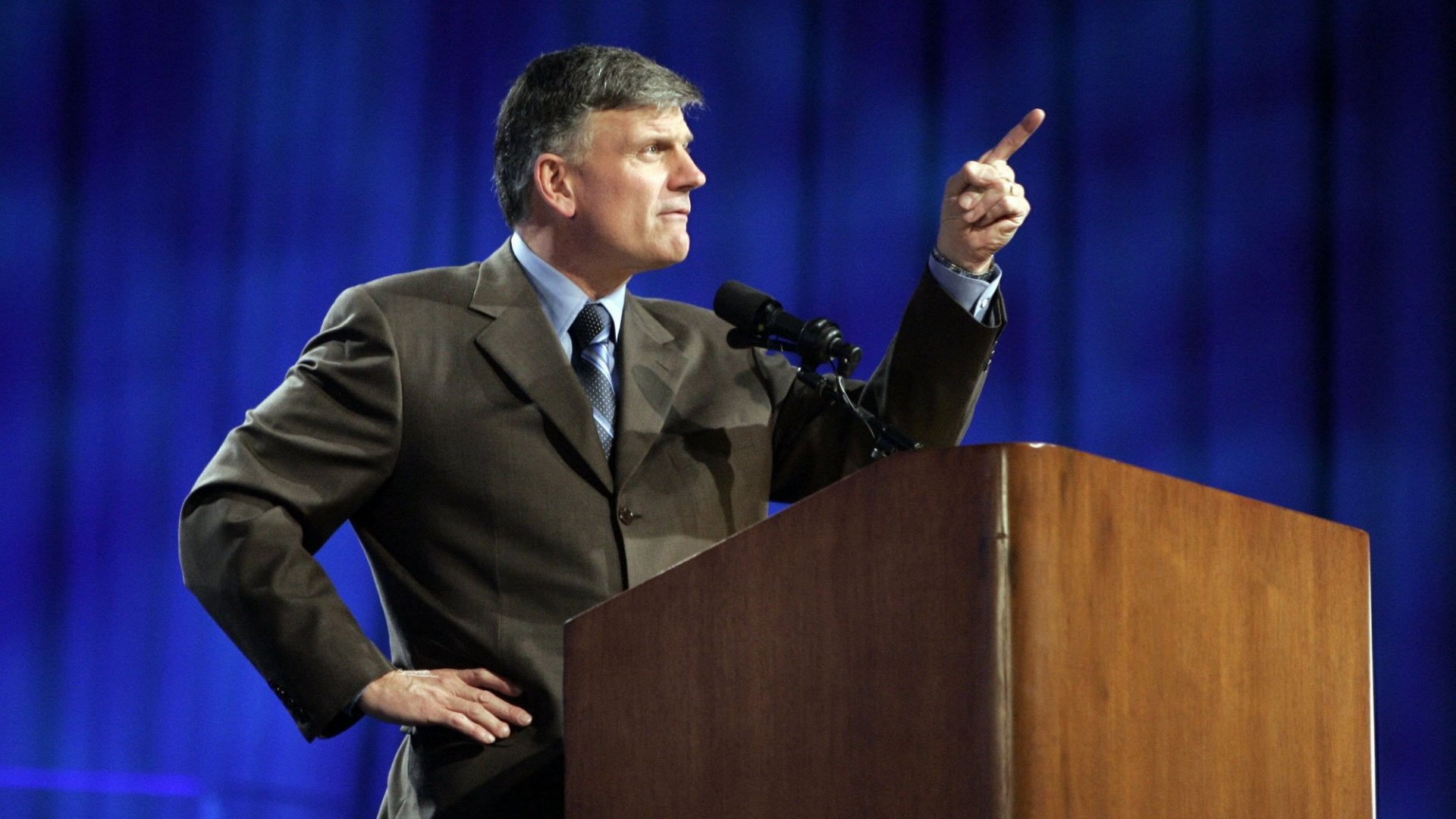 Franklin Graham, president and chief executive of Billy Graham Evangelistic Association, will move the ministry's millions from Wells Fargo in protest of a same-sex advertisement.