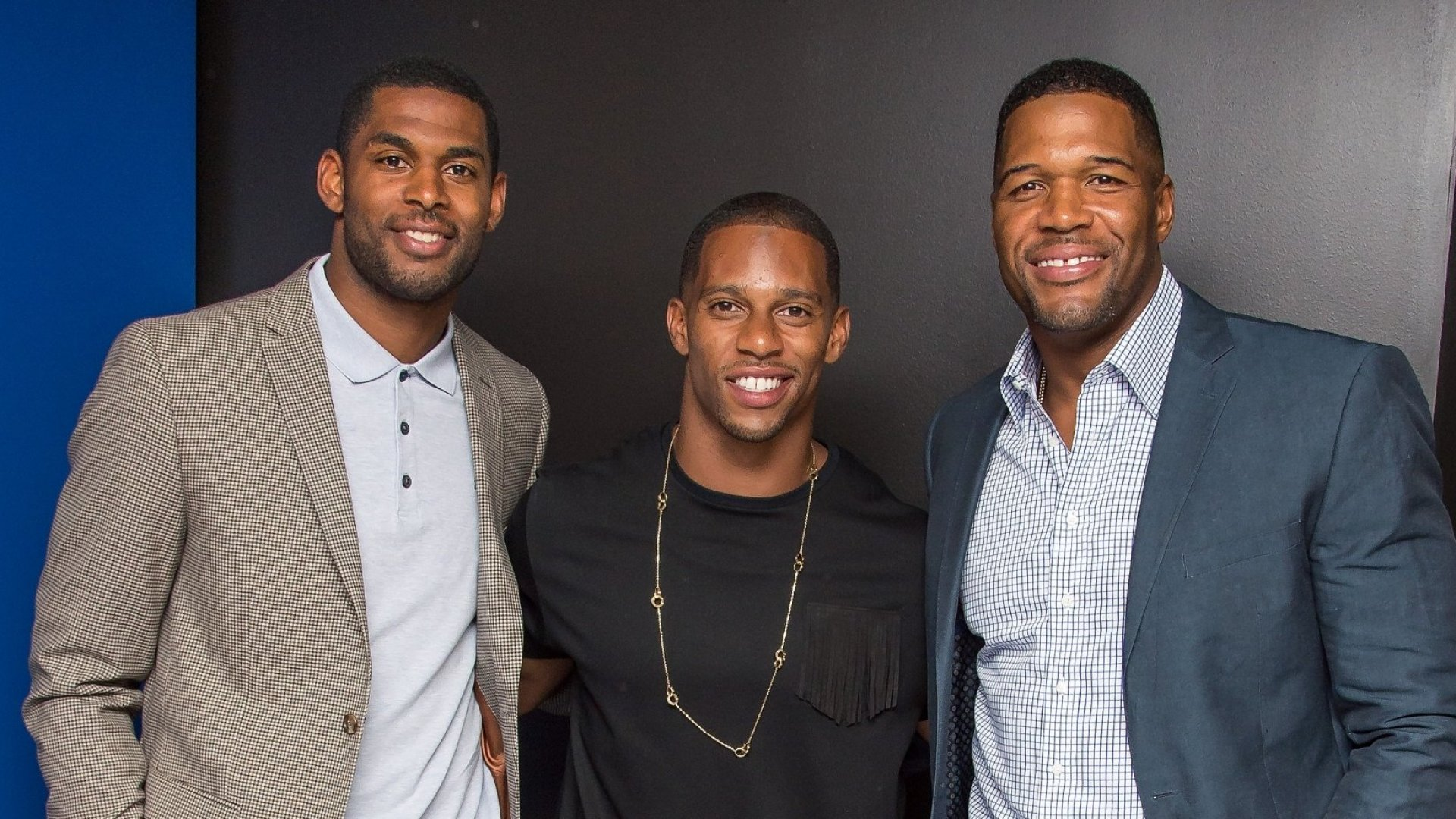 Marques Colston (left) is a prime example of an NFL player making a smooth transition from the field to the boardroom.