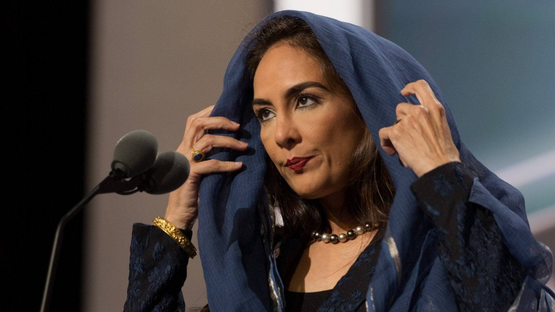 Harmeet Dhillon at the Republican National Convention in 2016