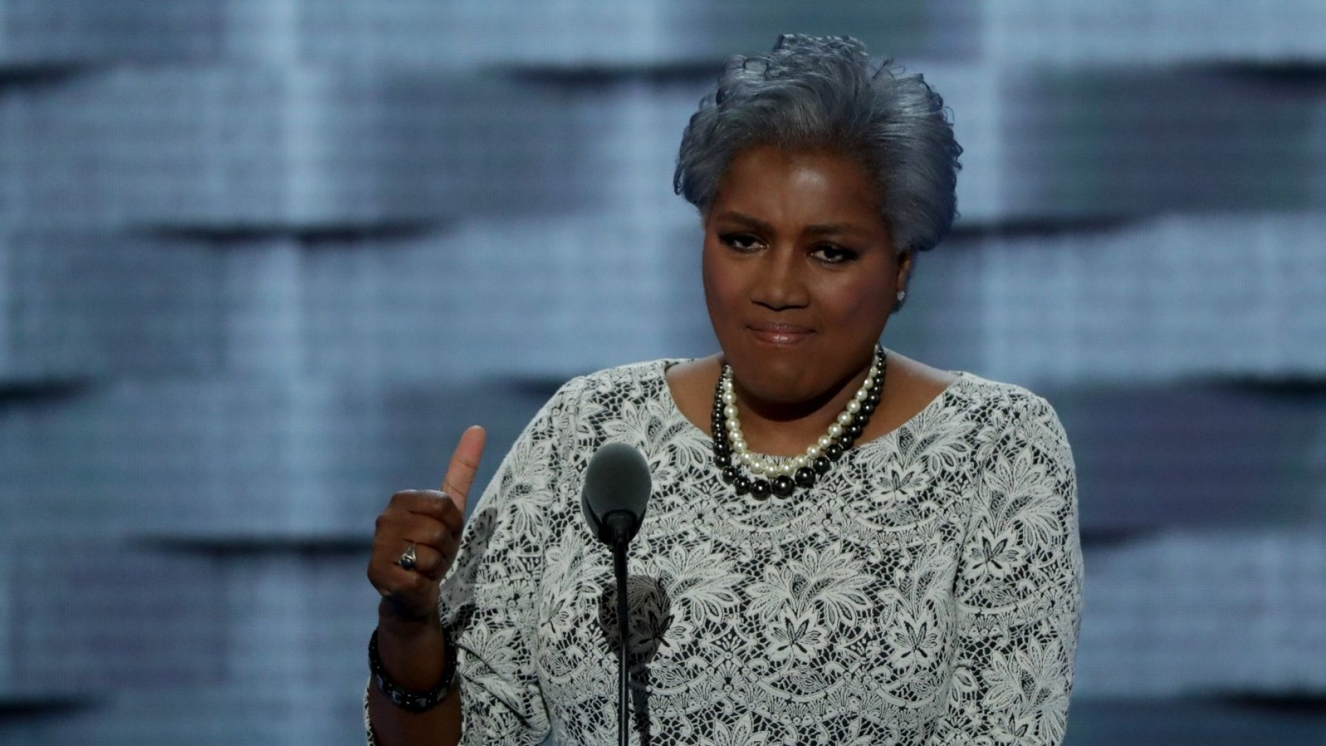 Interim chair of the Democratic National Committee Donna Brazile on the second day of the Democratic National Convention at the Wells Fargo Center, July 26, 2016, in Philadelphia.