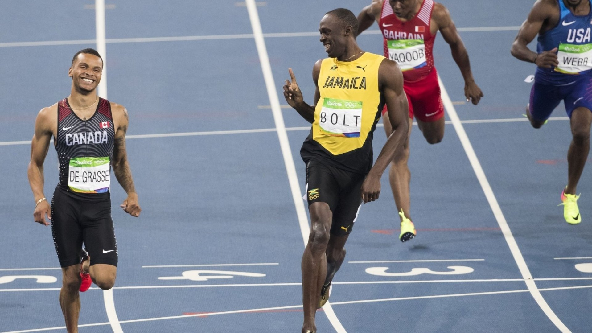 Usain Bolt (second from left).