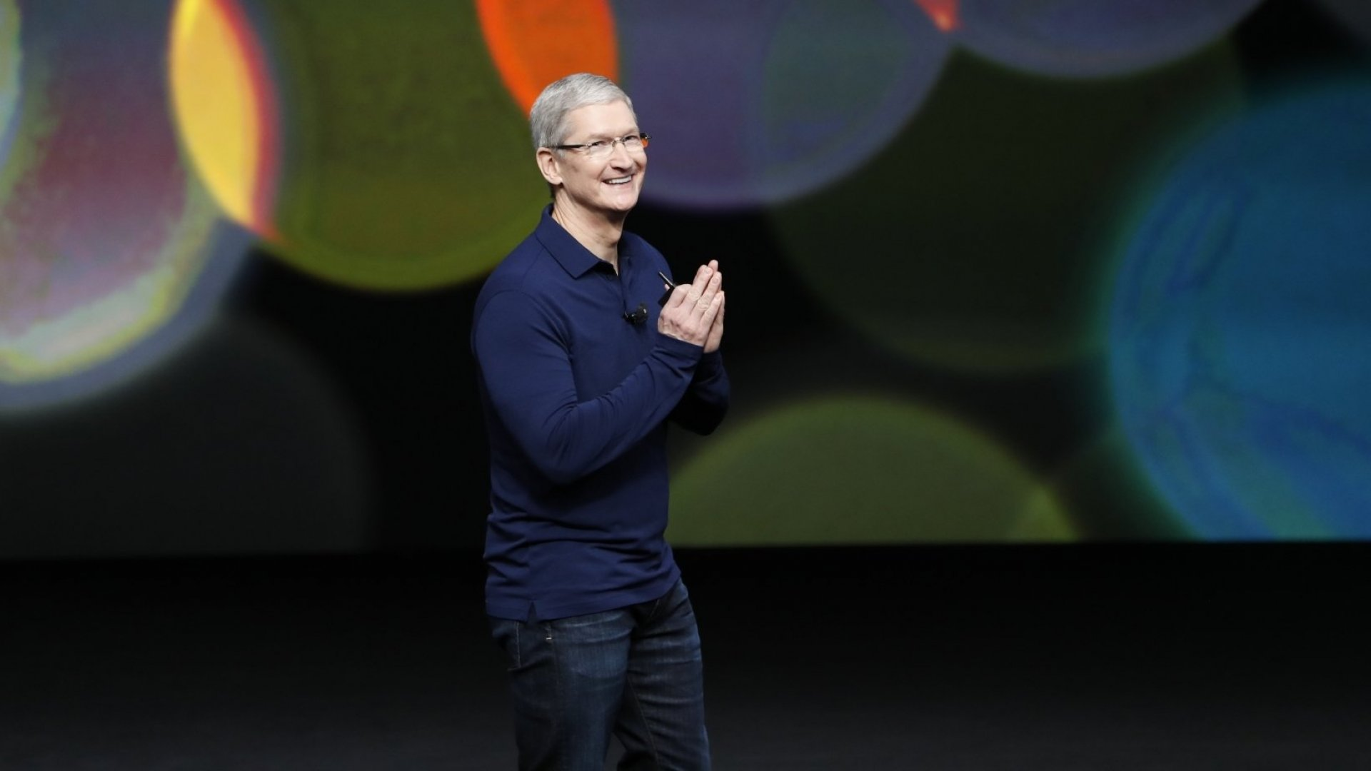 Apple CEO Tim Cook during a launch event in San Francisco on September 7, 2016.