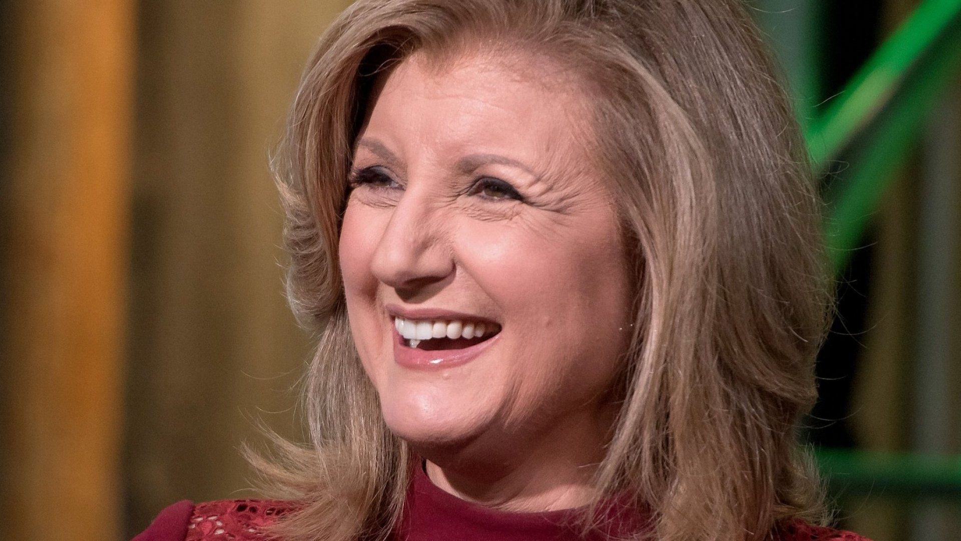 Arianna Huffington speaks on stage at the 8th Annual Women in the World Summit at Lincoln Center for the Performing Arts on April 6, 2017 in New York City.