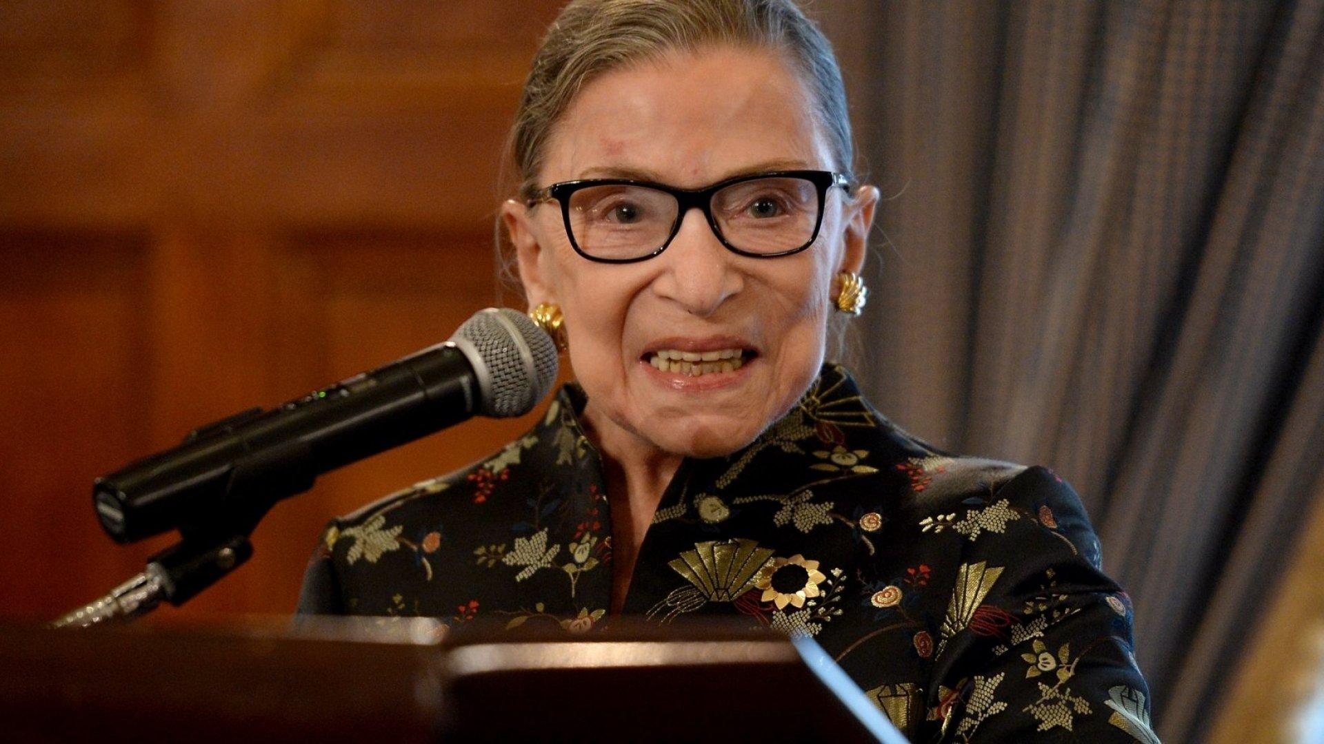 Ruth Bader Ginsburg.