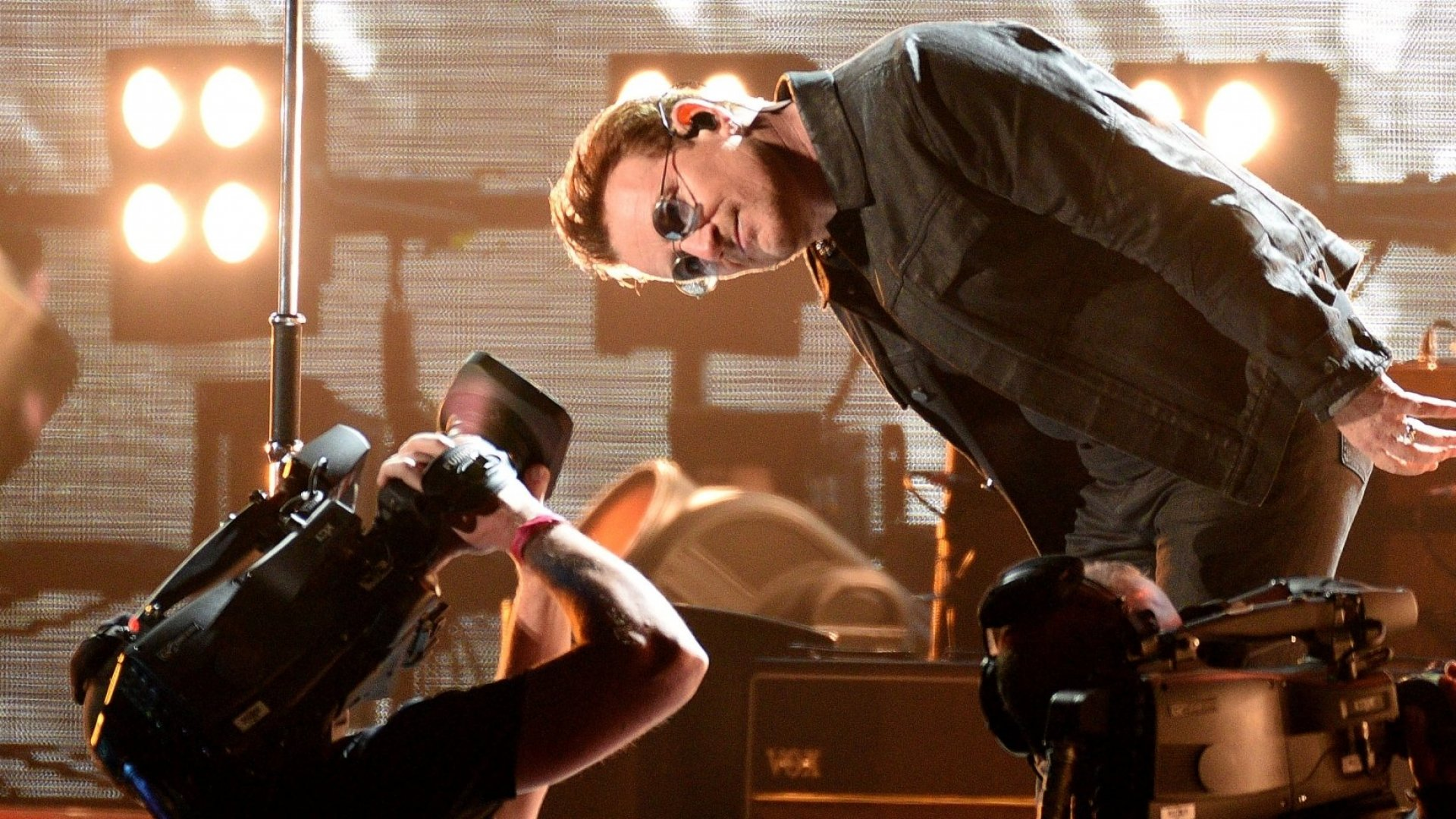 Bono of U2 performs during the 2016 UCSF Benioff Children's Hospital Benefit Concert during the 2016 Salesforce / Dreamforce Conference at the 'Cloud Palace' Cow Palace on October 5, 2016 in Daly City, California. (Photo by C Flanigan/FilmMagic)