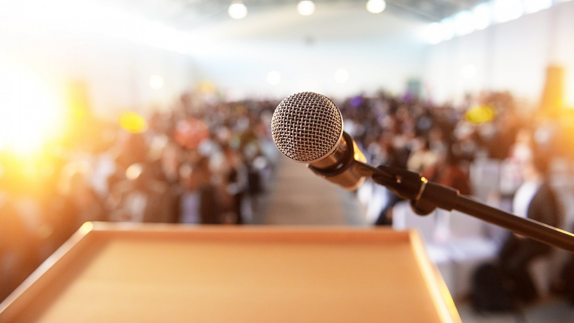 The most important part of any speech is the speech you give yourself before taking the stage.