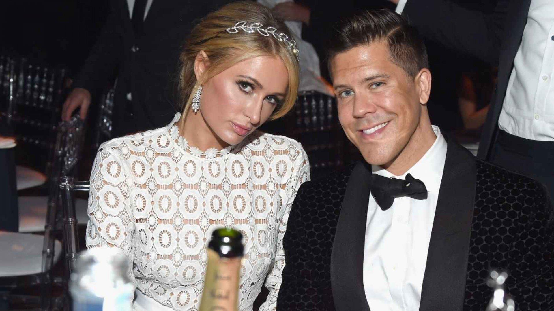 Paris Hilton and Fredrik Eklund.
