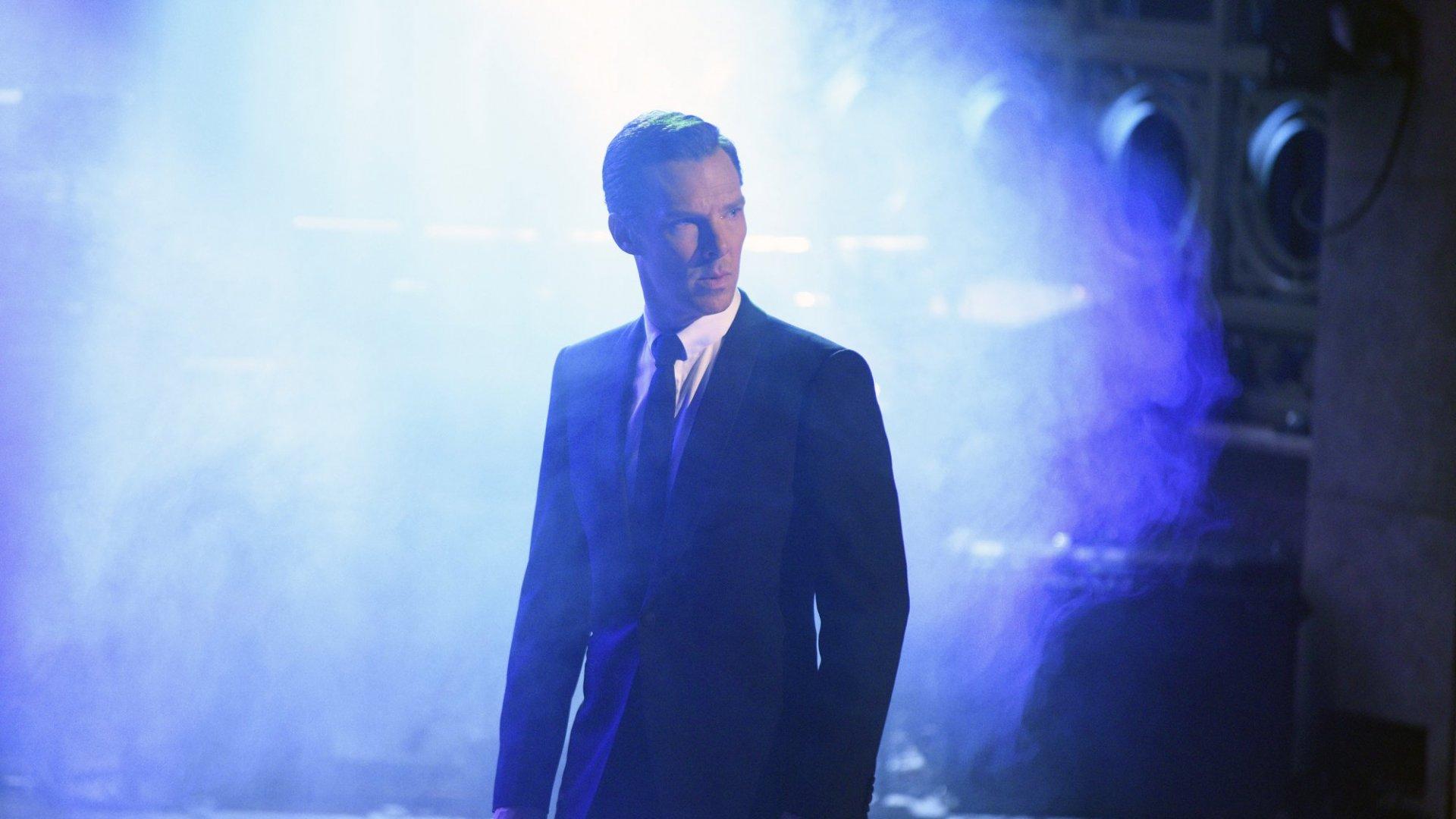 Benedict Cumberbatch in <em>Sherlock</em>.