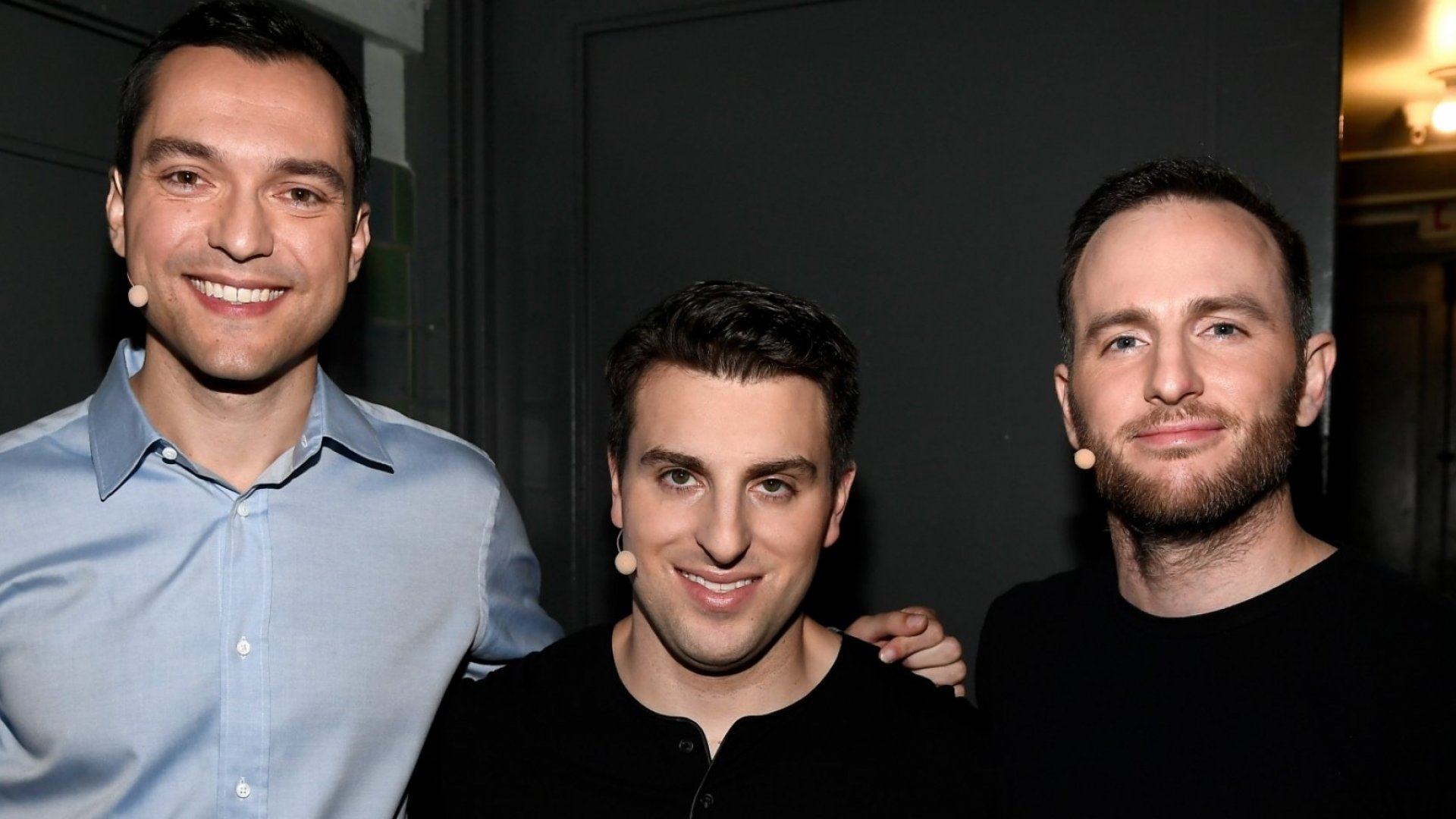 Airbnb founders Nathan Blecharczyk, Brian Chesky, and Joe Gebbia.