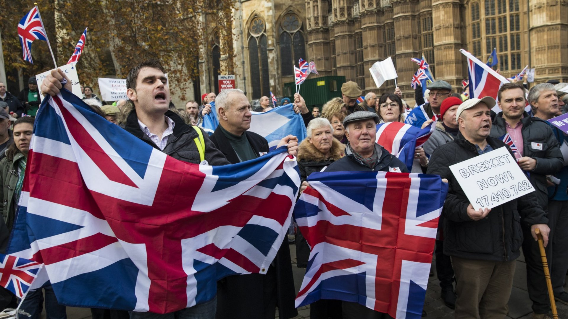 A pro-Brexit rally.