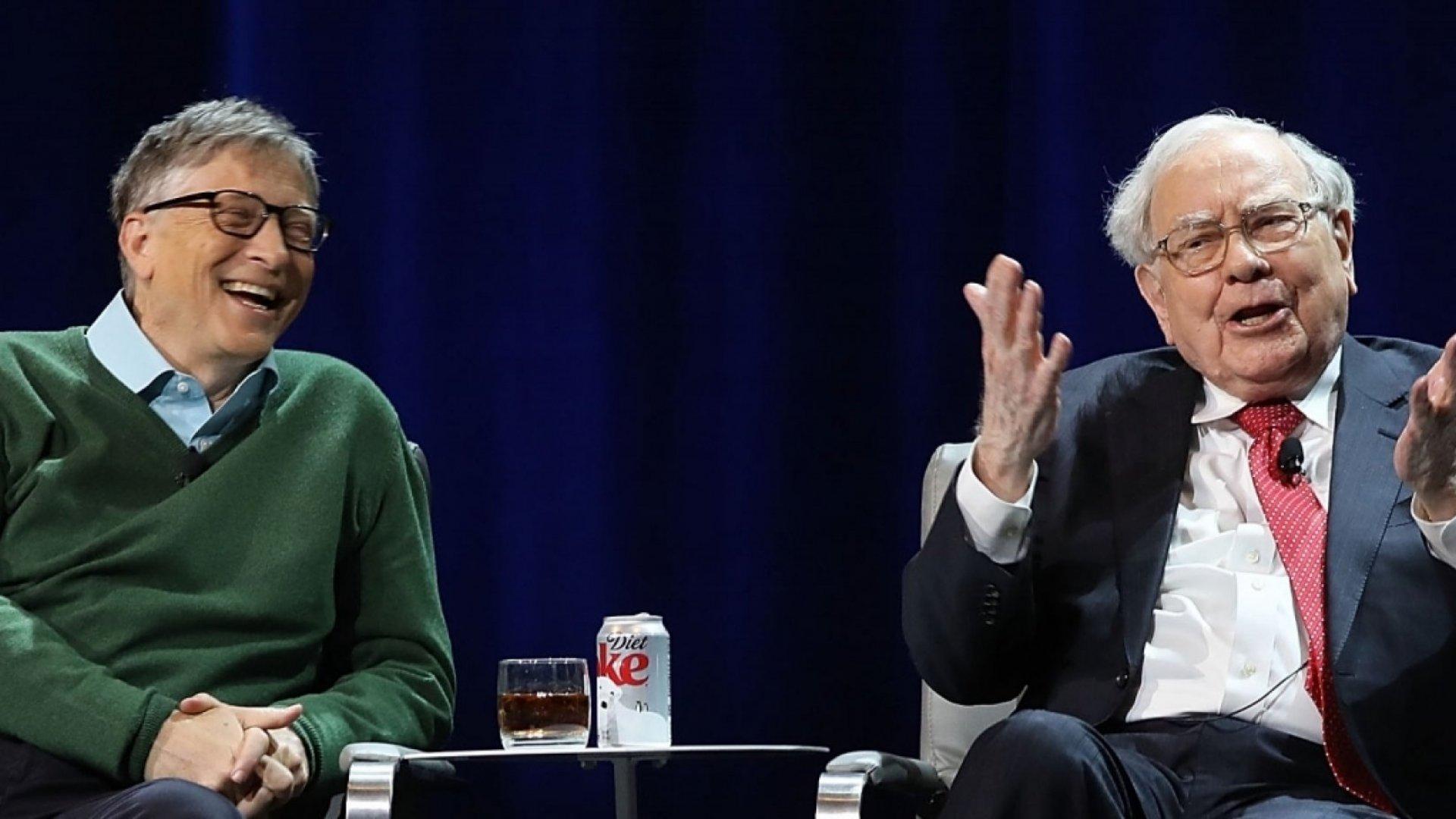 Bill Gates and Warren Buffett.