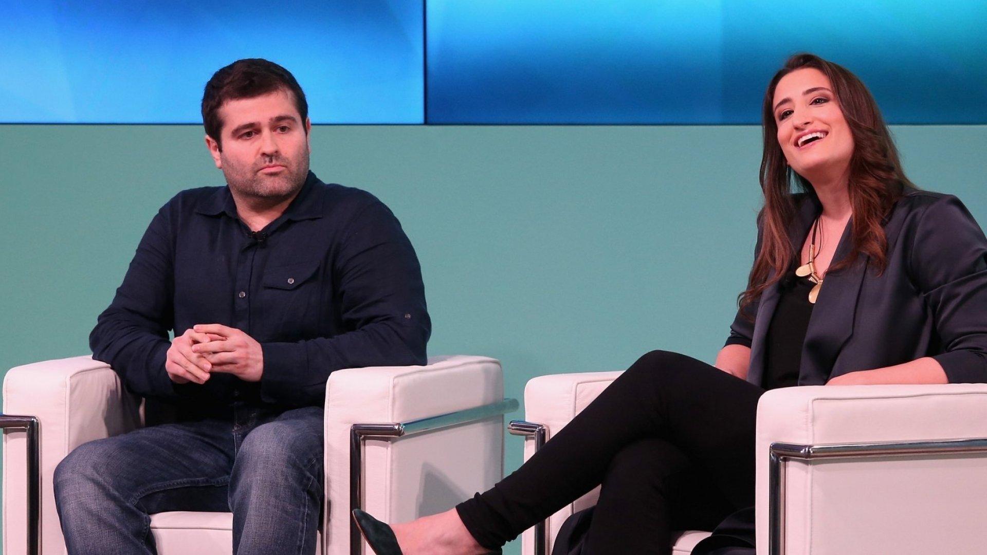 Slava Rubin, co-founder of Indiegogo, and Hayley Barna, a co-founder of Birchbox.