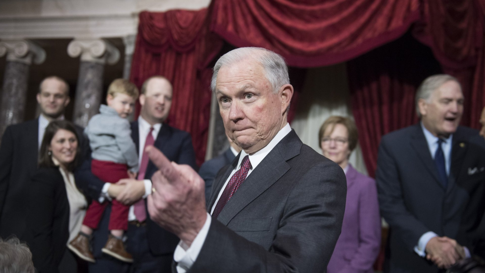 U.S. Attorney General Jeff Sessions, a staunch opponent of marijuana legalization, says he's been tasked by President Trump to reduce crime. Sessions says a big focus of crime reduction will be on stemming drug sales and abuse.