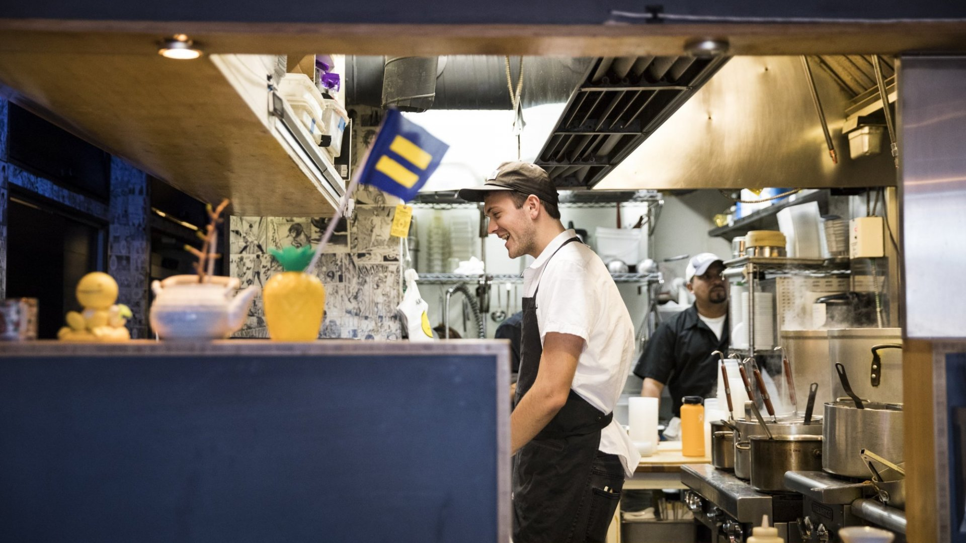 Staff work in the kitchen of Toki Underground which will be closed on Thursday in order to support its staff that are participating in the 'Day Without Immigrants' boycott against President Trumps immigration policies in Washington, USA on February 15, 2017.