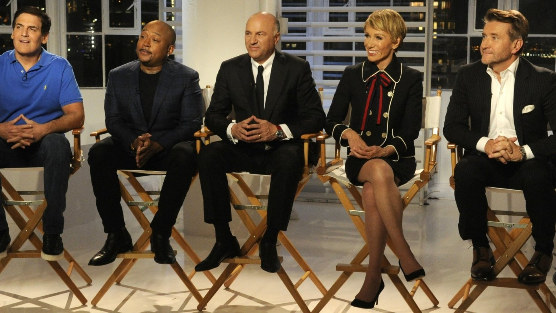 From left: Mark Cuban, Daymond John, Kevin O'Leary, Barbara Corcoran, and Robert Herjavek.