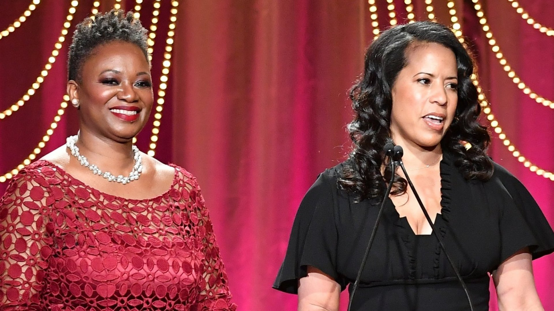Vanessa K. De Luca (left)--editor in chief of <em>Essence</em> magazine--and Michelle Ebanks--president of Essence Communications--at Essence Black Women.