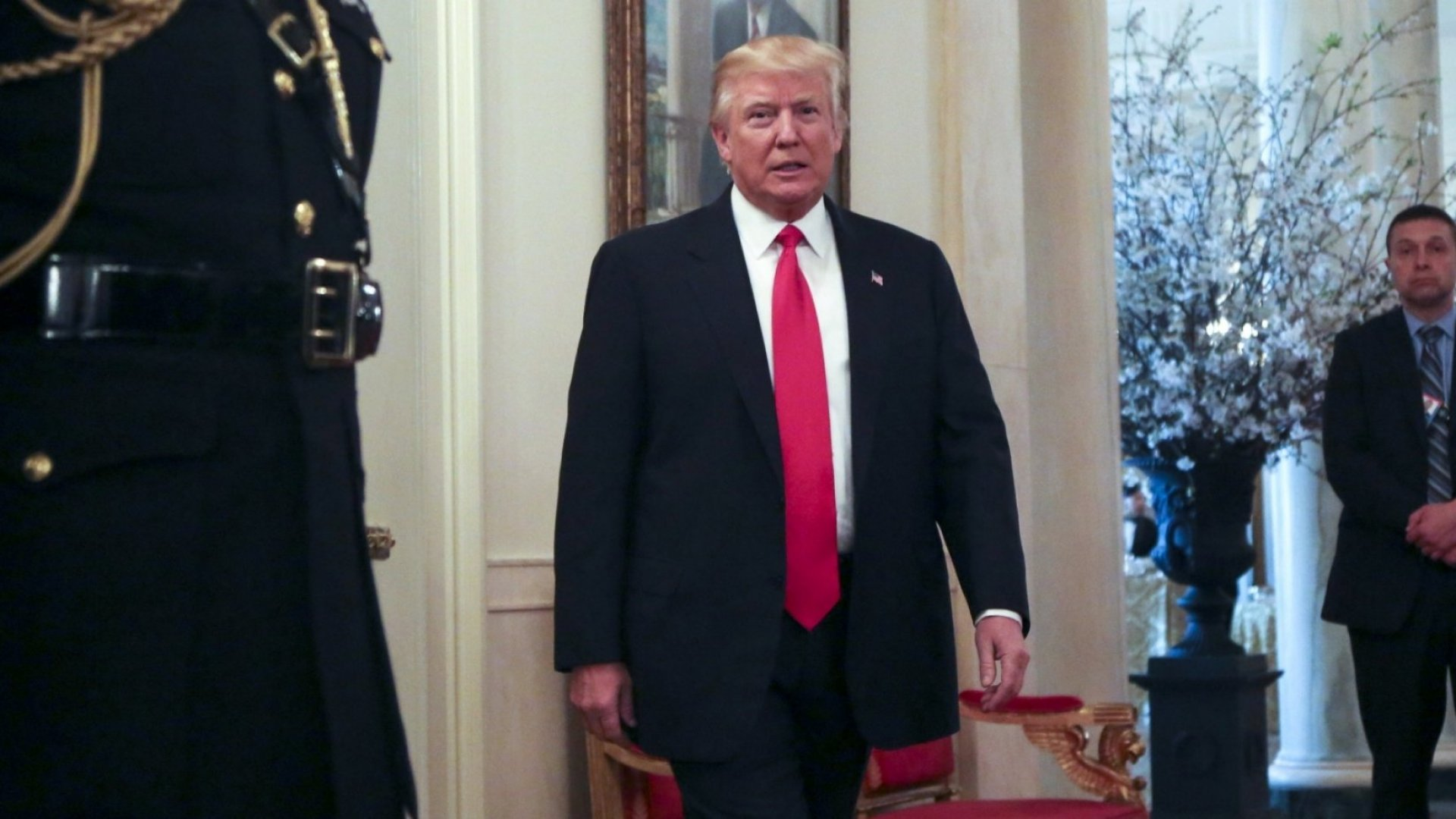 President Trump attends the National Governors Association.
