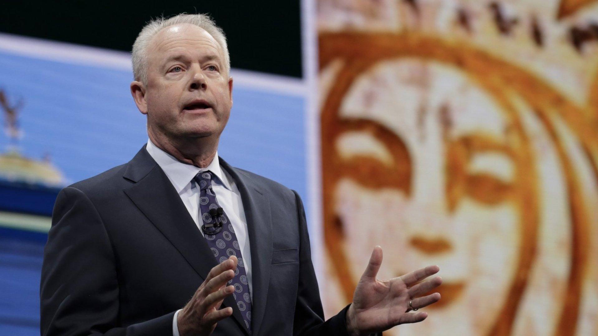 Starbucks' chief executive officer, Kevin R. Johnson.