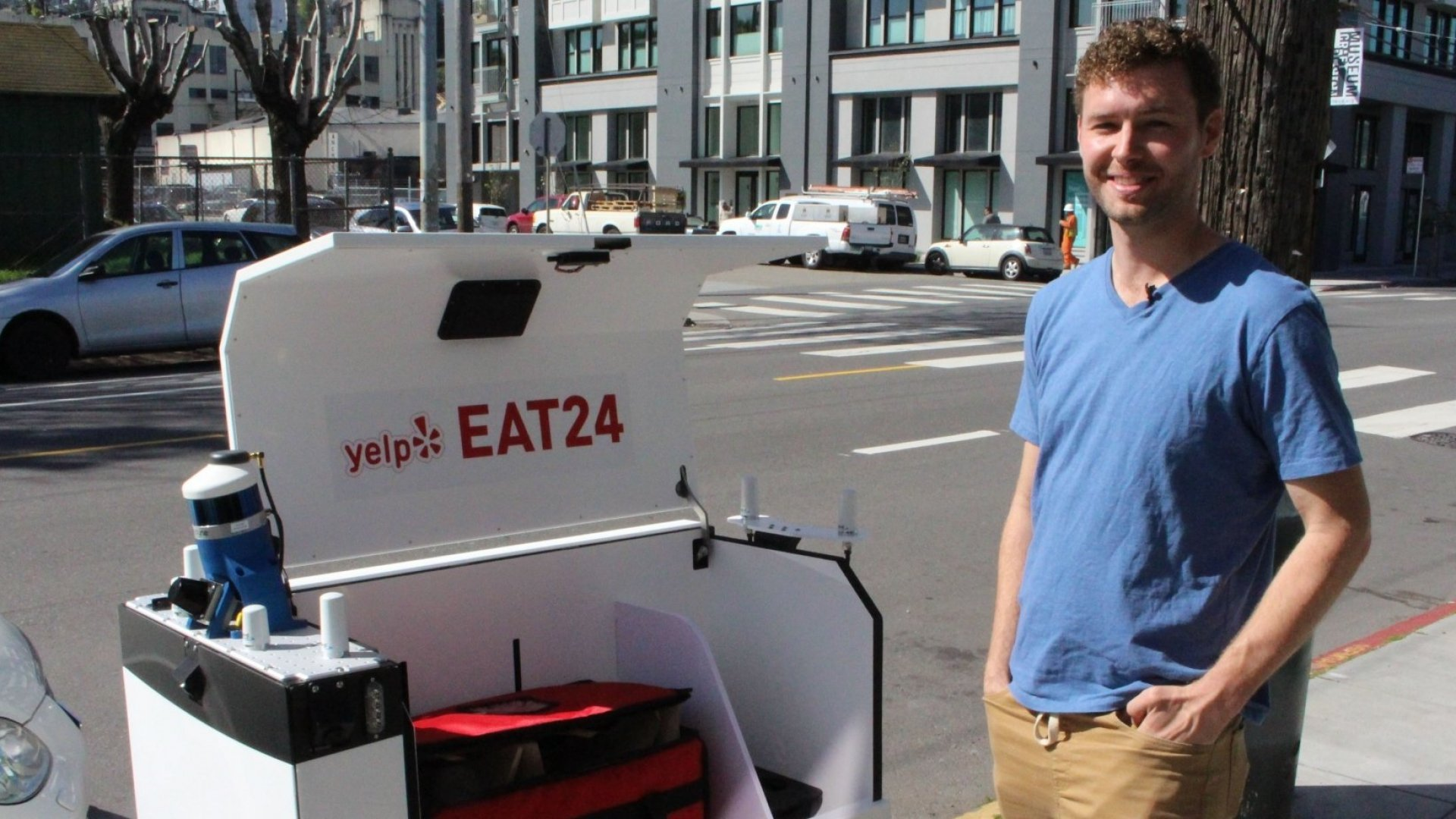 Yelp Is Using Robots to Deliver Food in San Francisco
