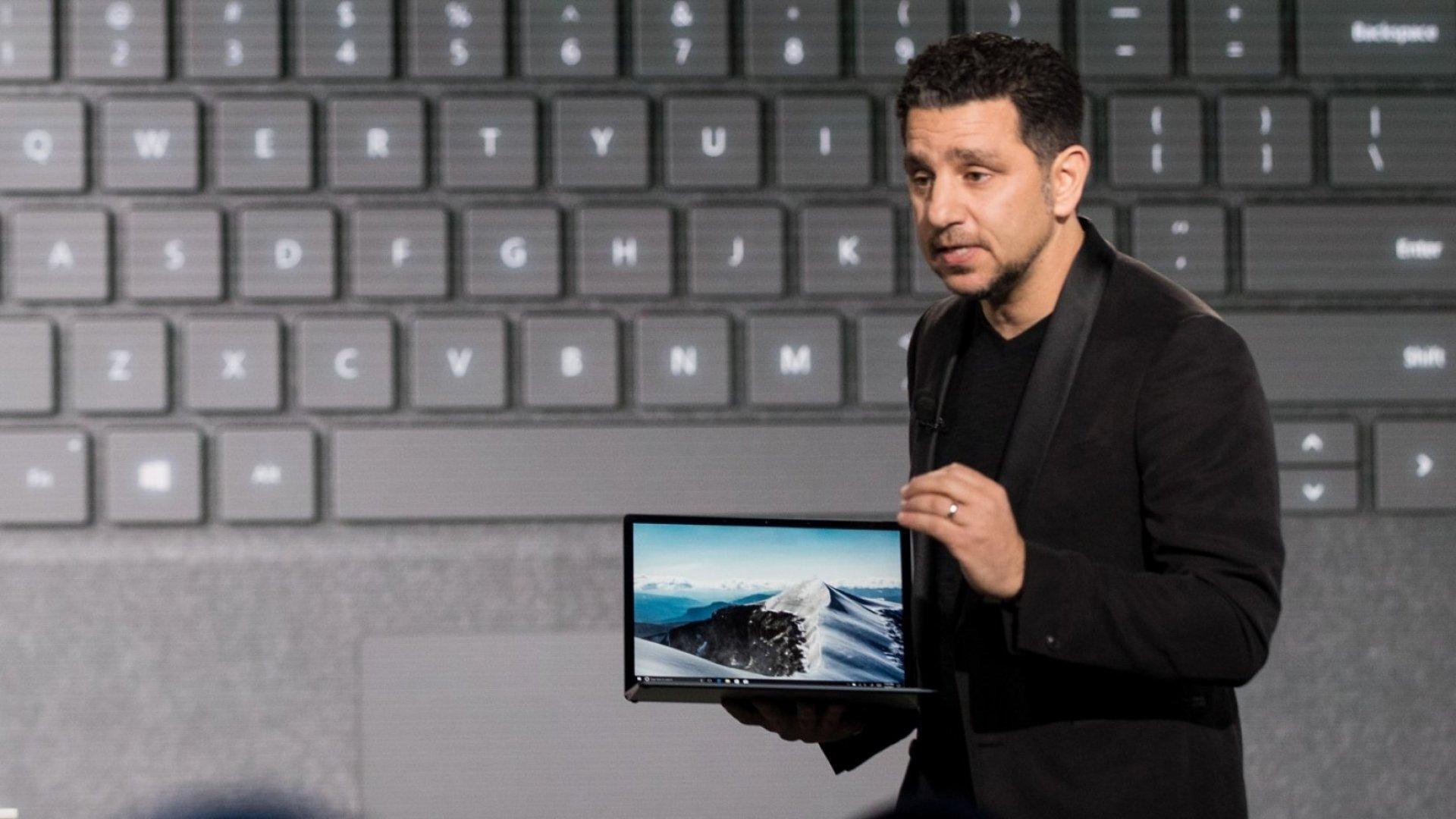 Panos Panay, vice president of Microsoft surface computing.