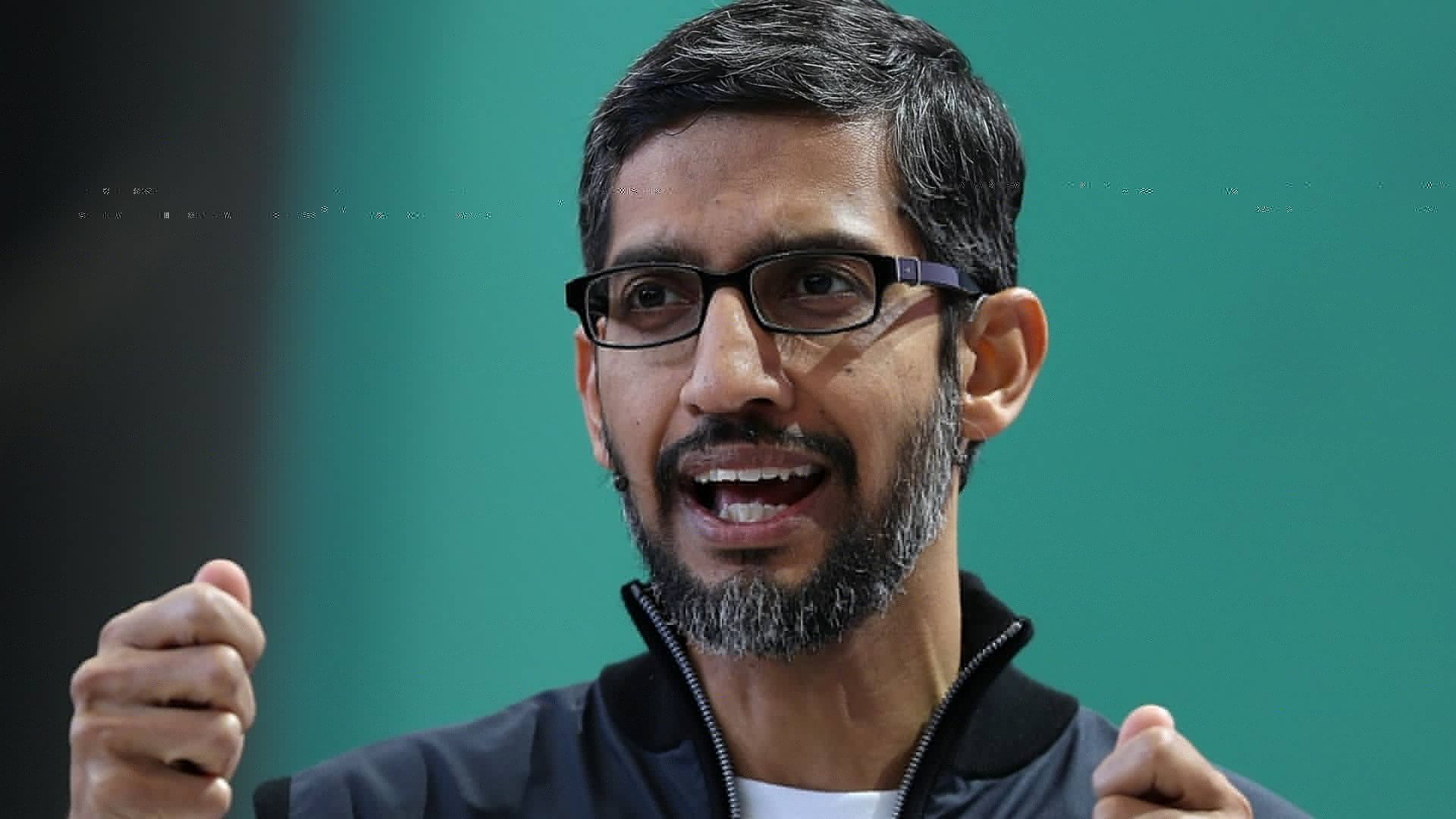 Google CEO Sundar Pichai delivers the keynote address at the Google I/O 2017 Conference.