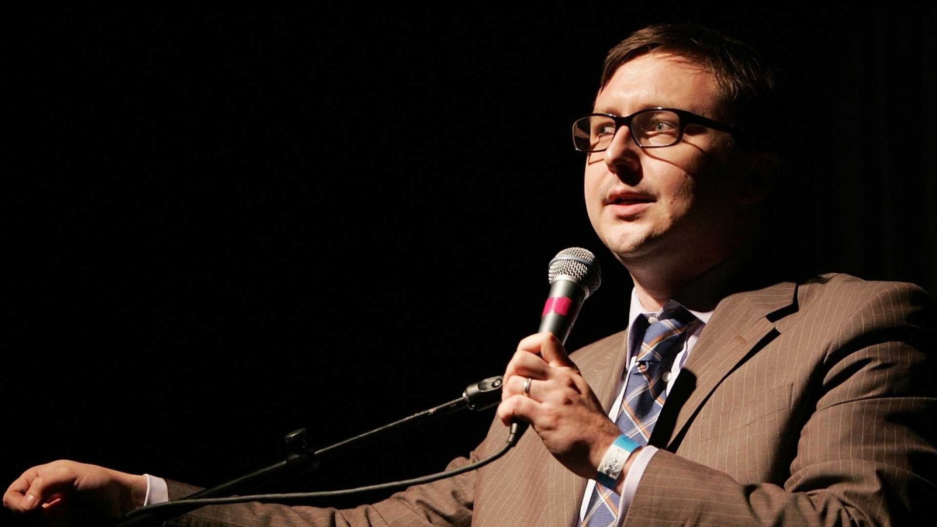 Only comedian John Hodgman could see the connection between searching for extraterrestrials and finding love.