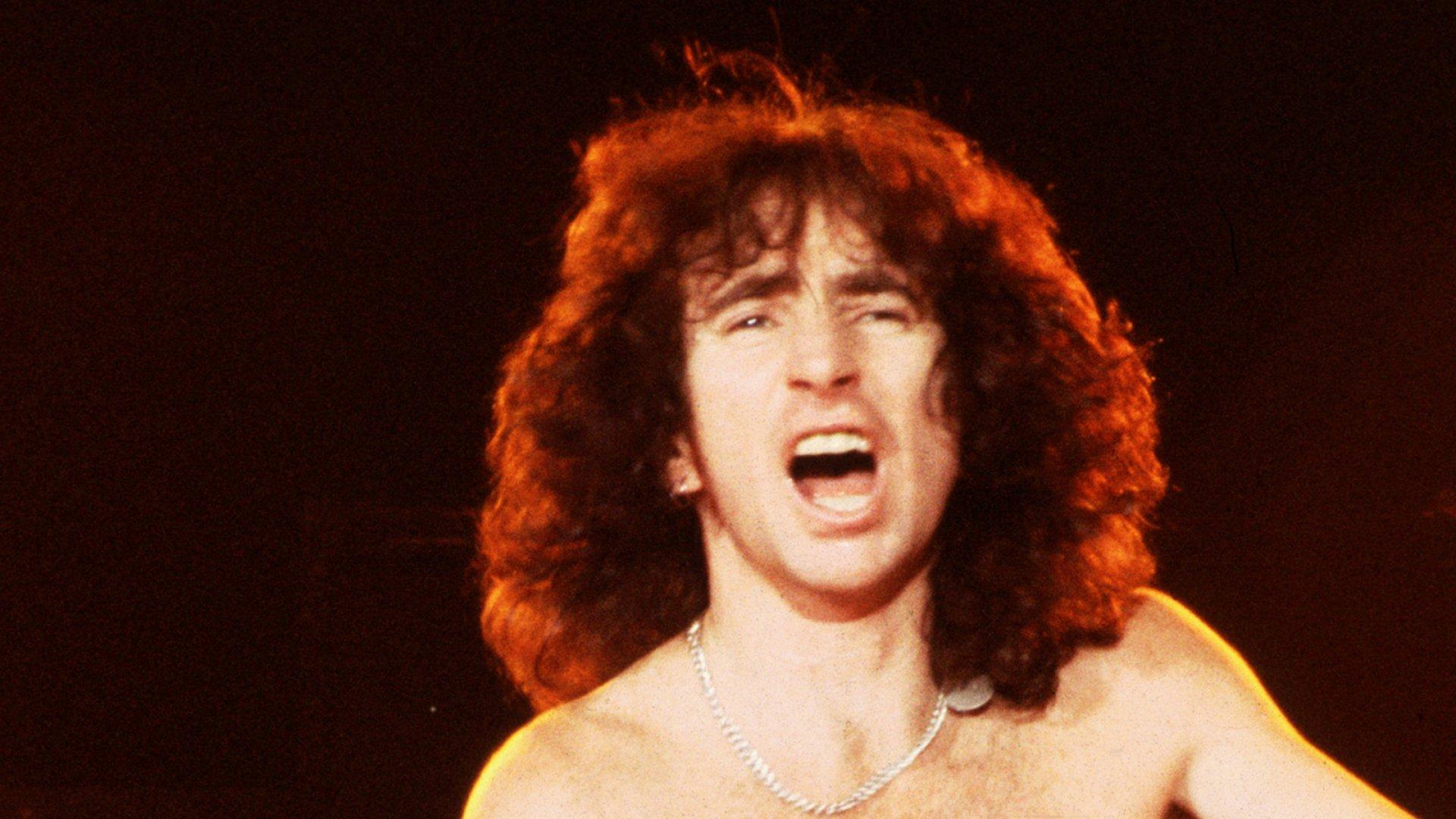 AC/DC singer Bon Scott in 1976.