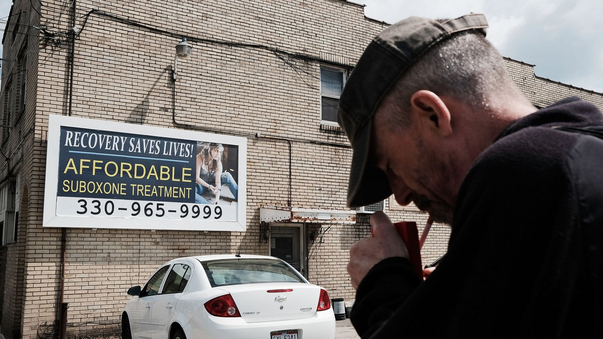 A billboard for drug treatment facility in Youngstown, Ohio.