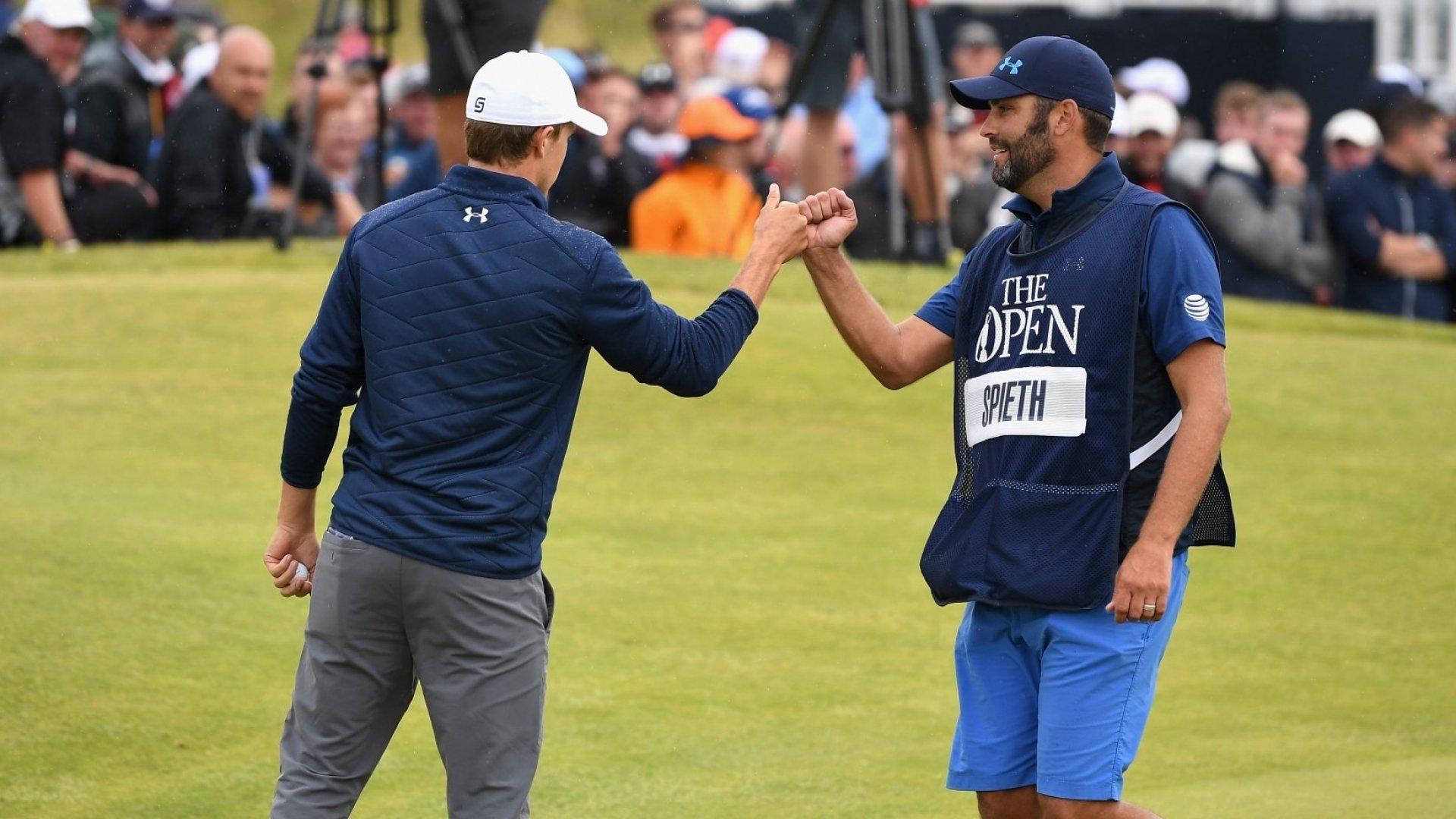 Jordan Spieth's Caddie Said 3 Words That Put the British Open Champion Back on Track