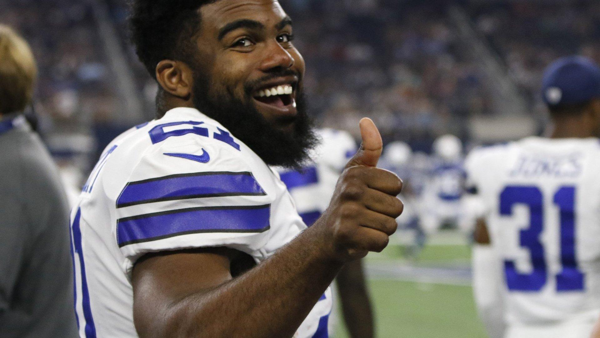 Ezekiel Elliott is happy as long as he is on the field, helping the Dallas Cowboys.
